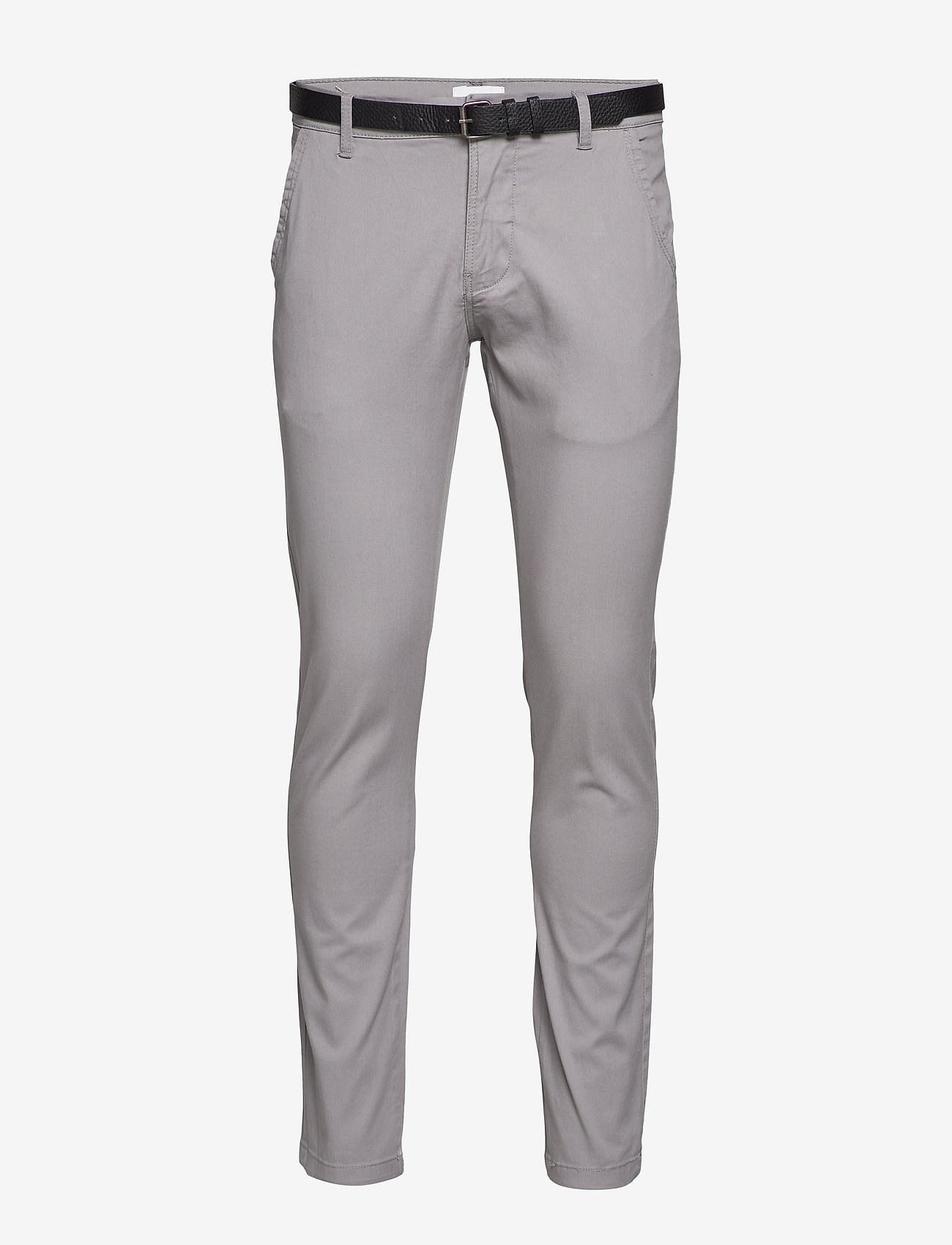 Lindbergh - Classic stretch chino W. belt - chinot - silver