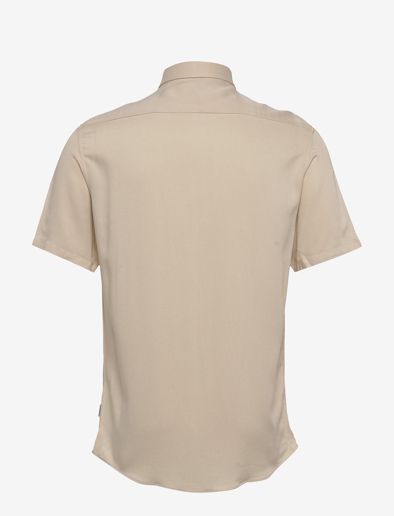 Lindbergh - Viscose shirt S/S - peruspaitoja - light sand - 1