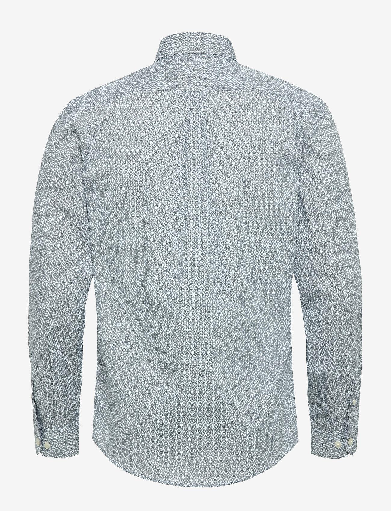 Lindbergh Graphic print shirt L/S - Skjorter MID BLUE - Menn Klær