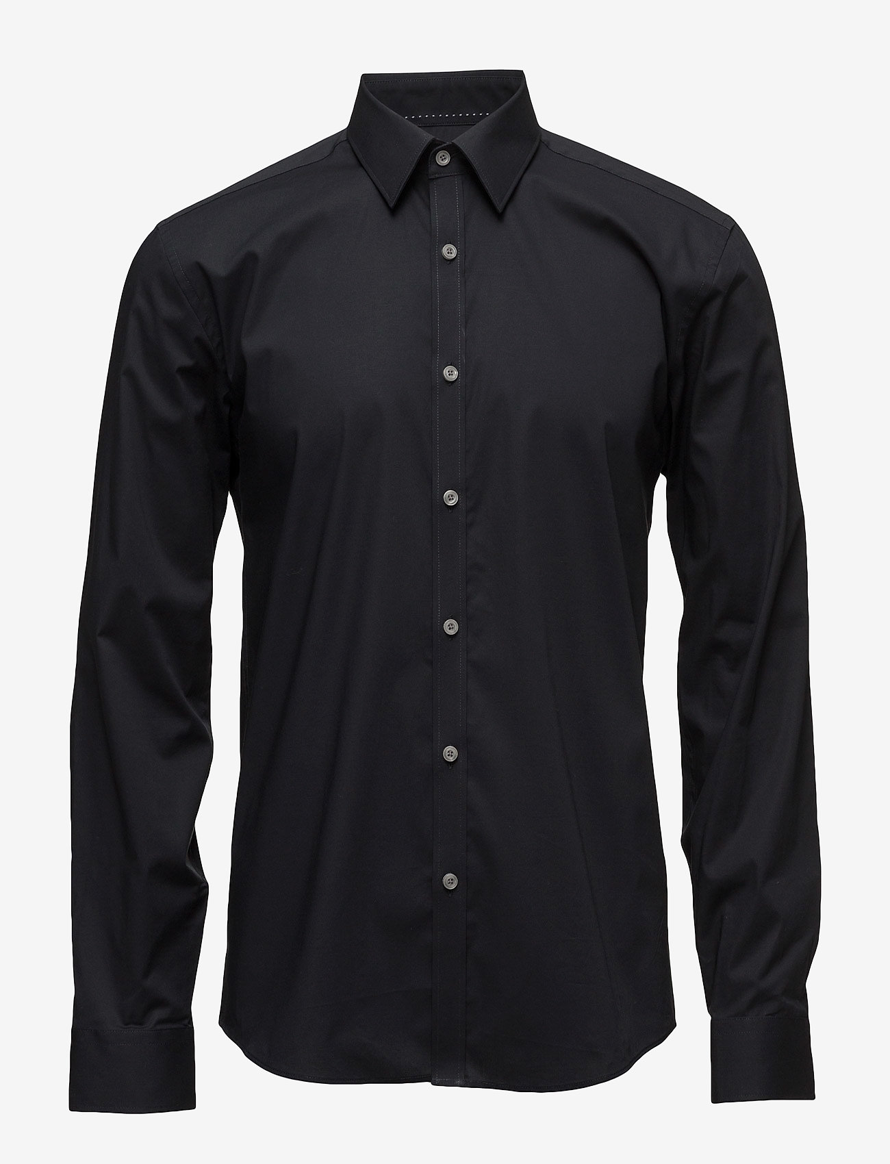 Lindbergh - Men's Stretch Shirt L/S - basic-hemden - black - 0