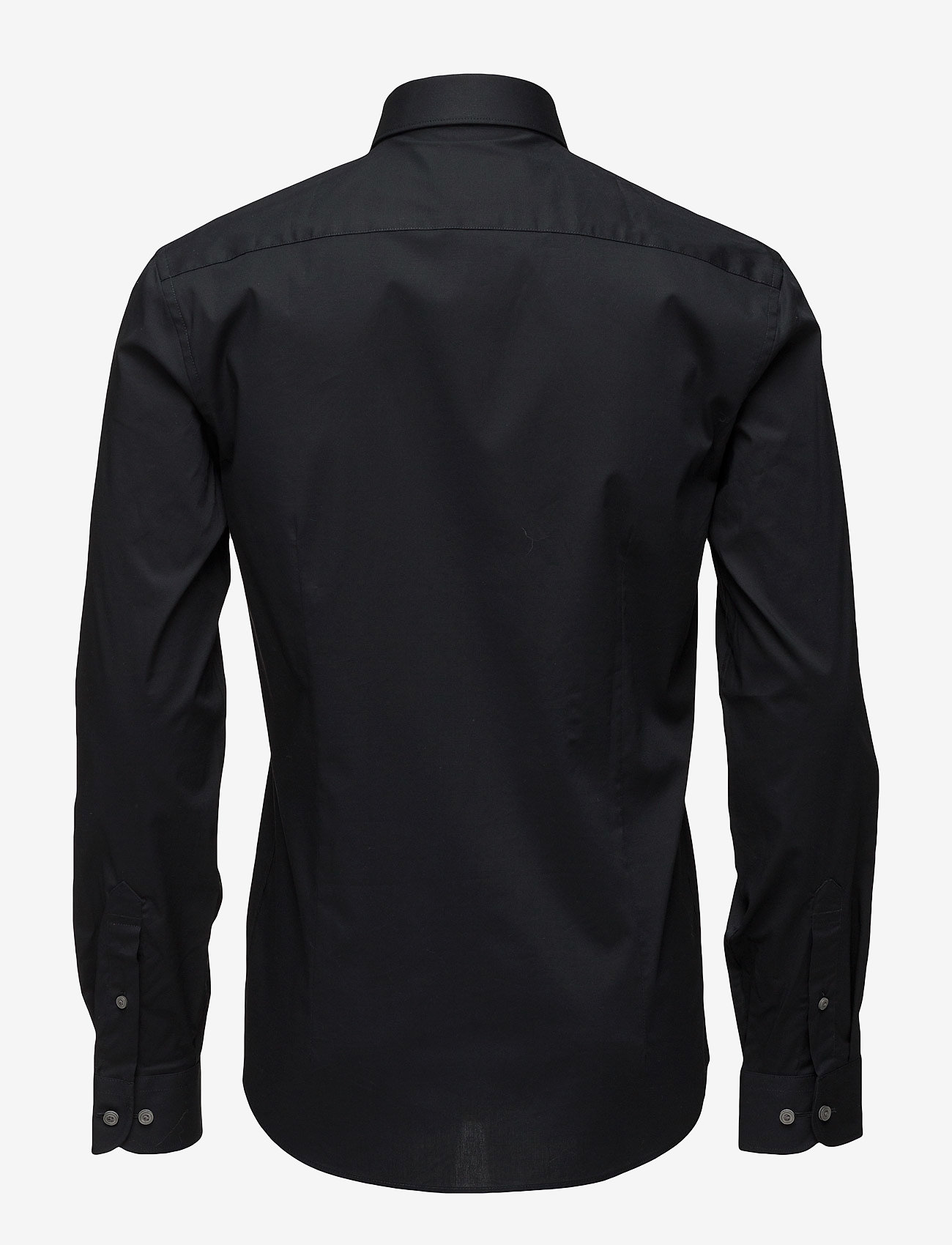 Lindbergh - Men's Stretch Shirt L/S - basic-hemden - black - 1