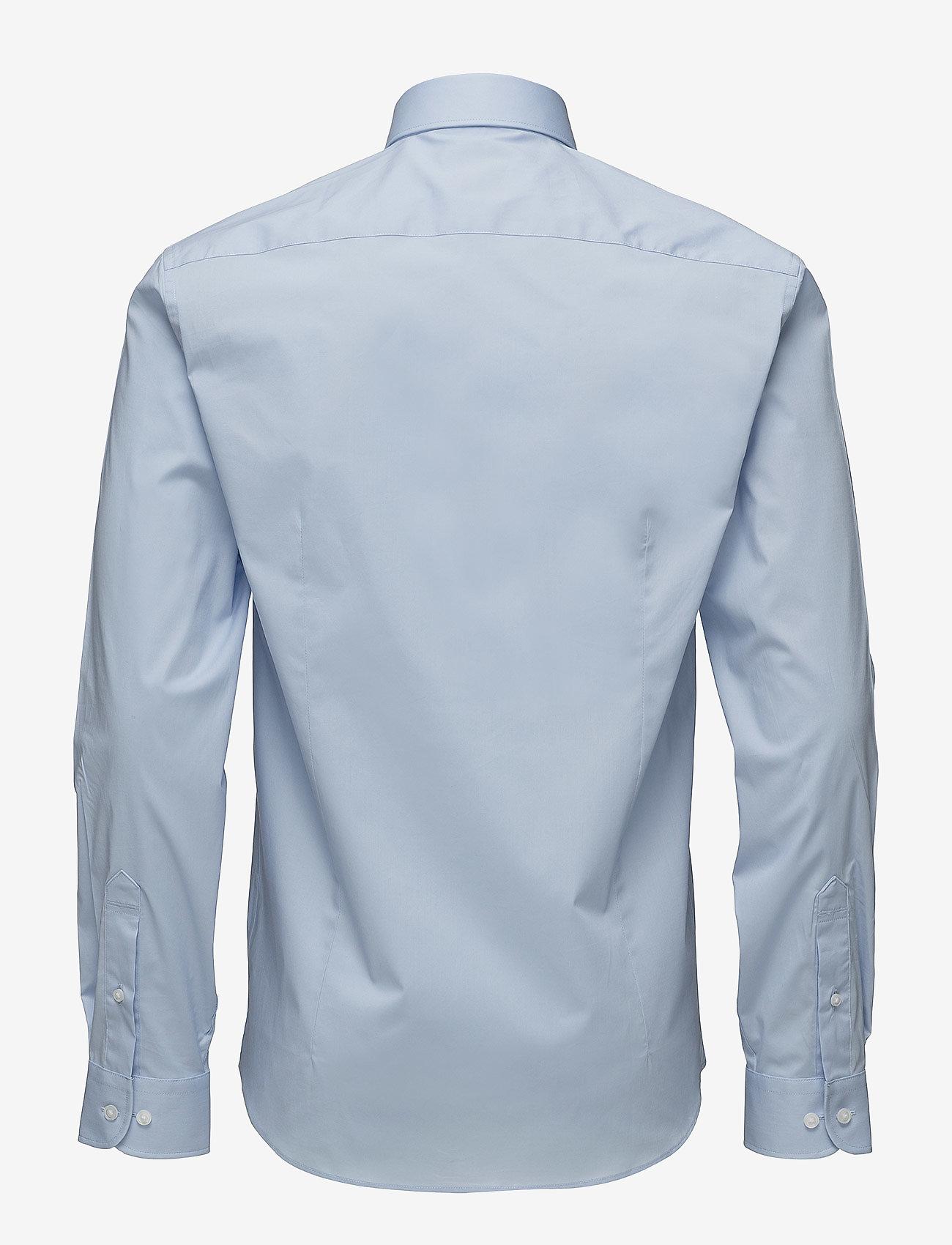 Lindbergh - Men's Stretch Shirt L/S - basic shirts - lt blue - 1
