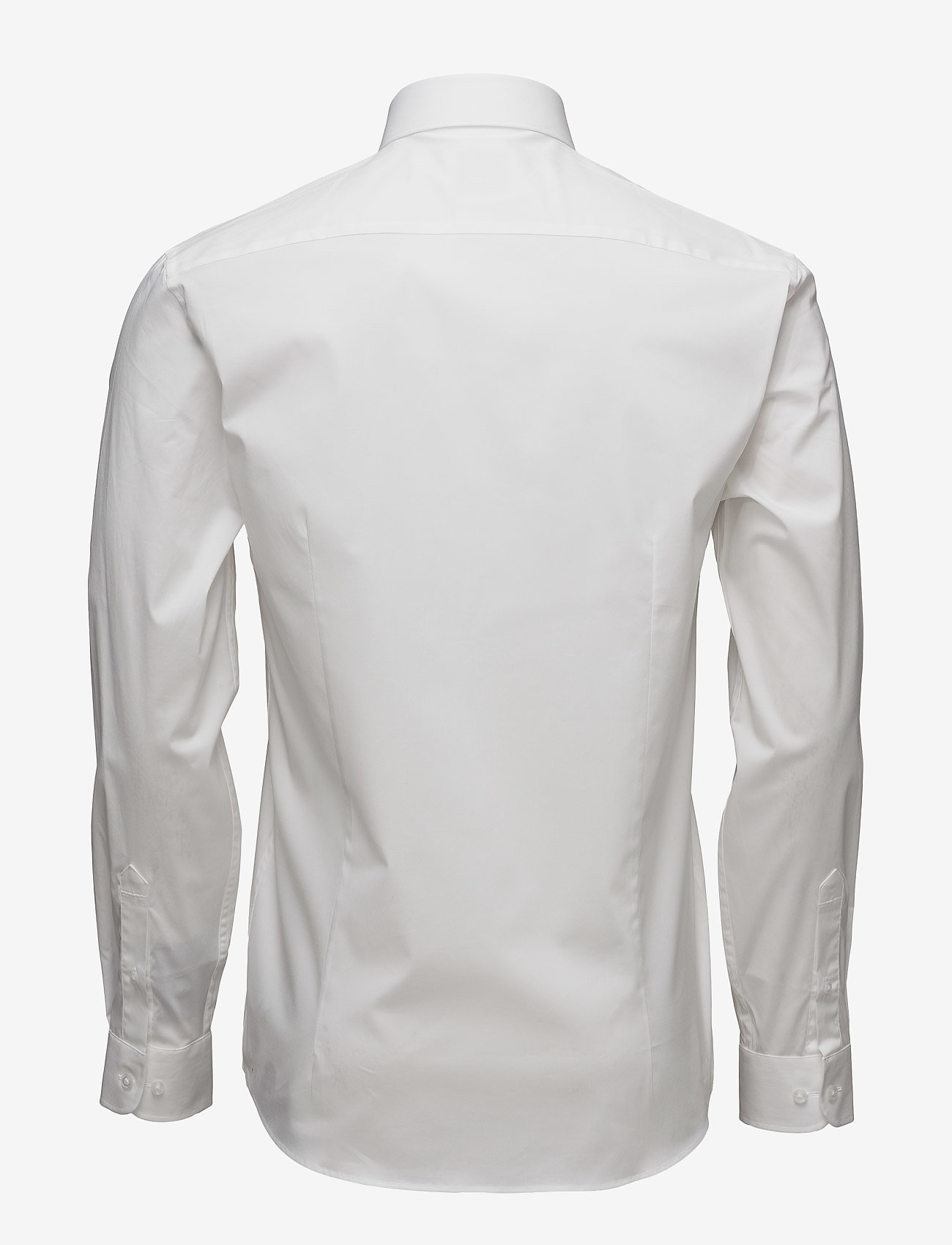 Lindbergh Men's Stretch Shirt L/S - Skjorter WHITE - Menn Klær