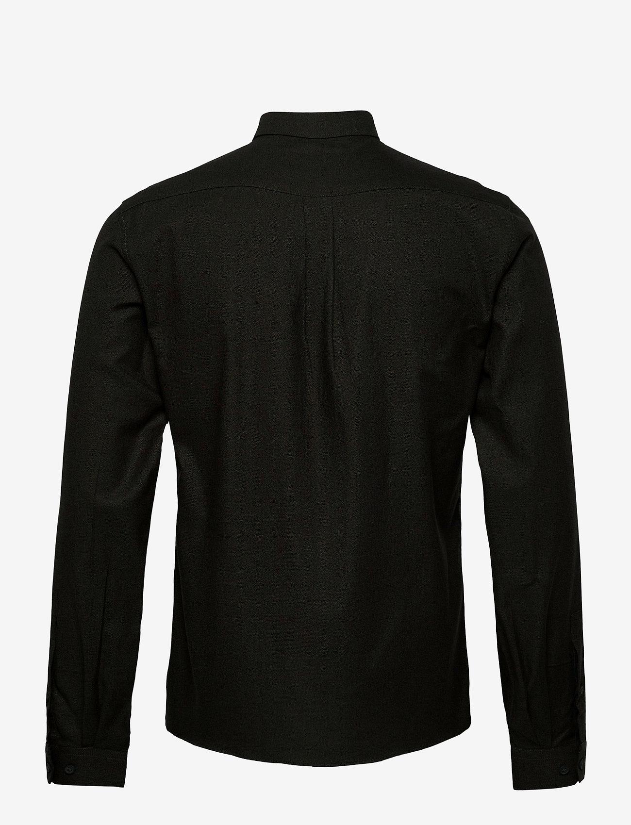Lindbergh - Mouliné stretch shirt L/S - basic shirts - army - 1