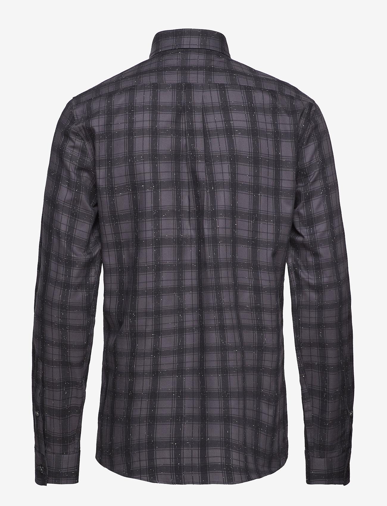 Lindbergh Checked Slub Shirt L/s - Skjortor Grey