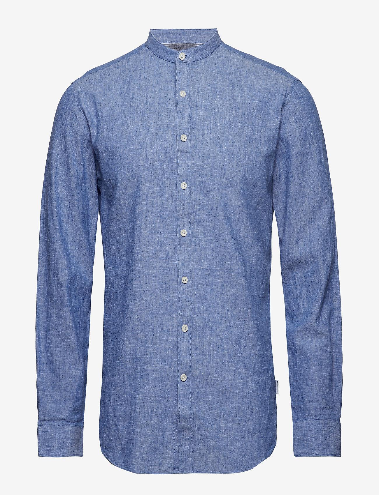 Lindbergh - Linen shirt L/S - puuvillapaidat - blue