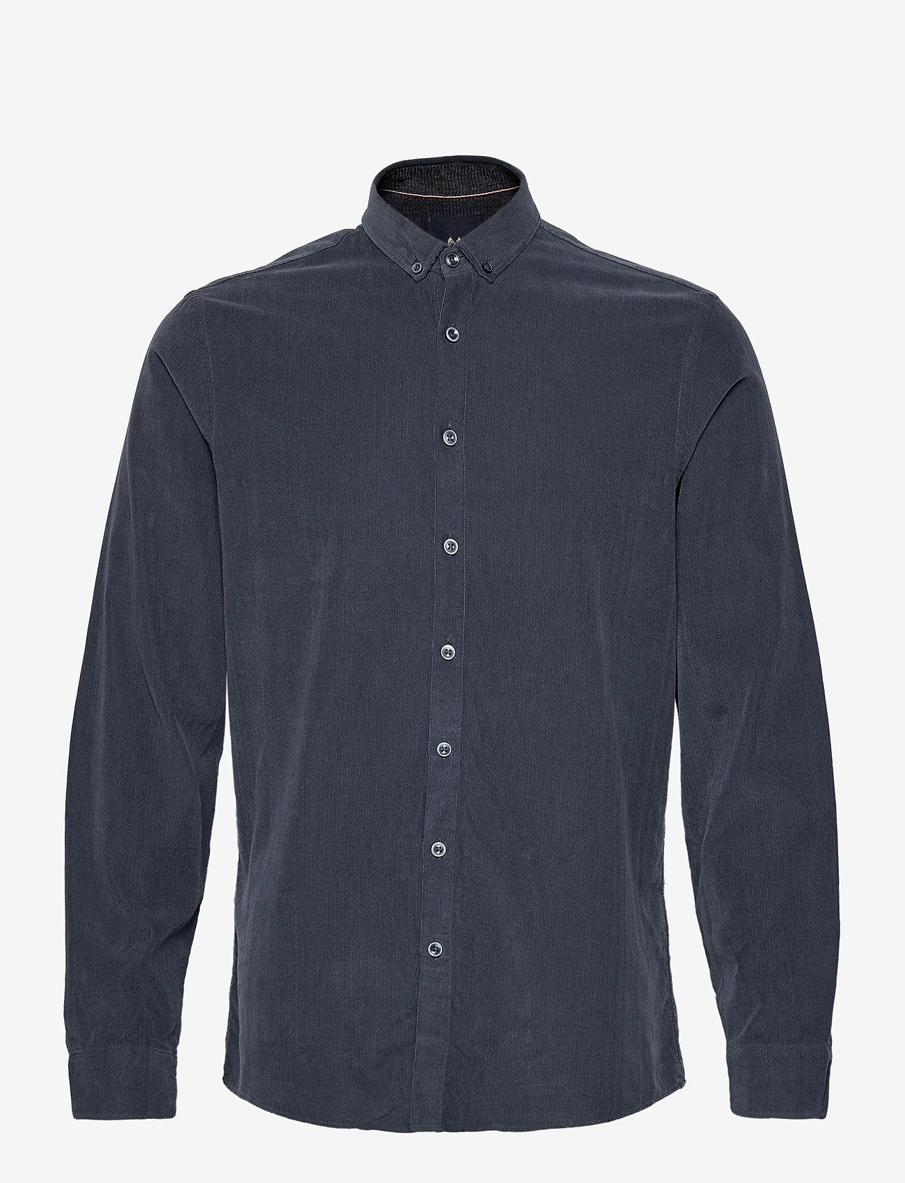 Lindbergh - L/S corduroy shirt - peruspaitoja - navy - 1