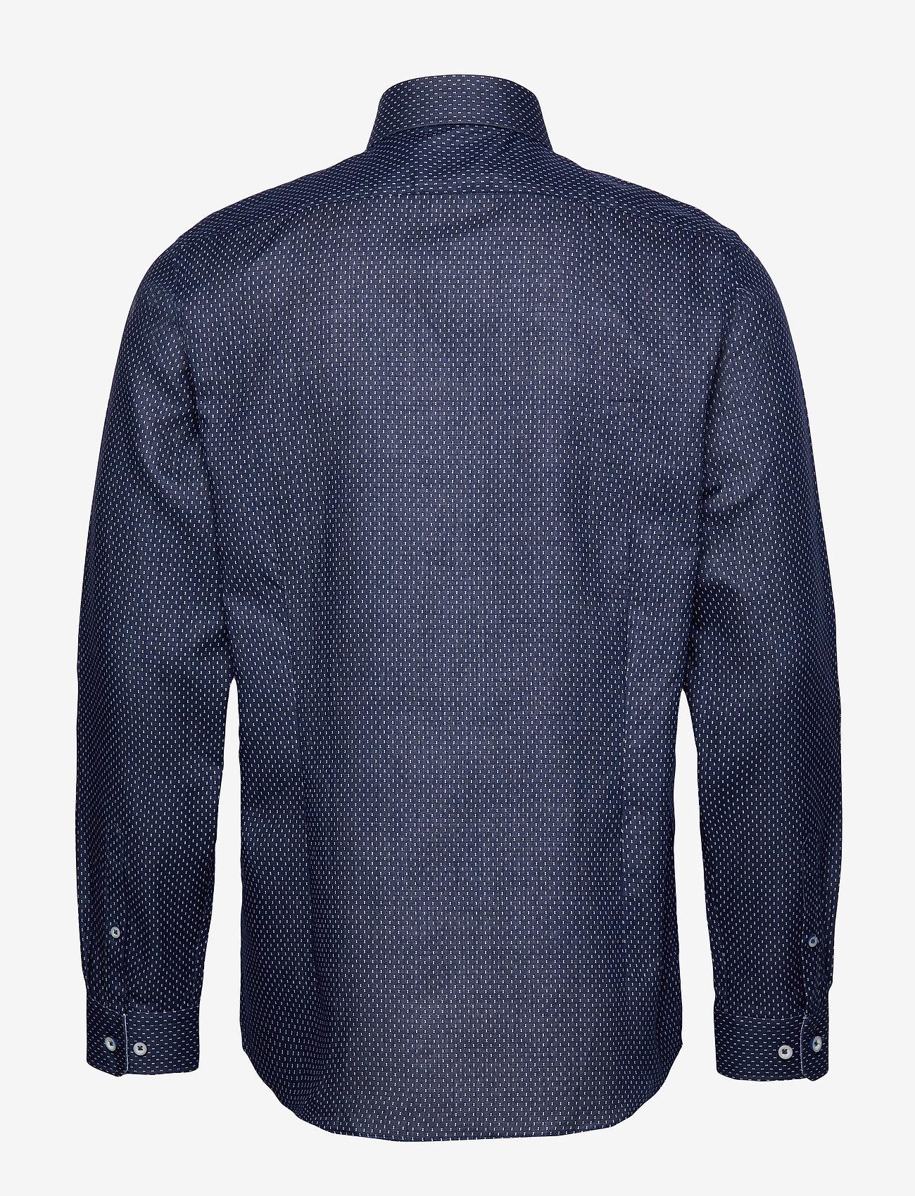 Lindbergh Small structure shirt L/S - Skjorter DARK BLUE - Menn Klær