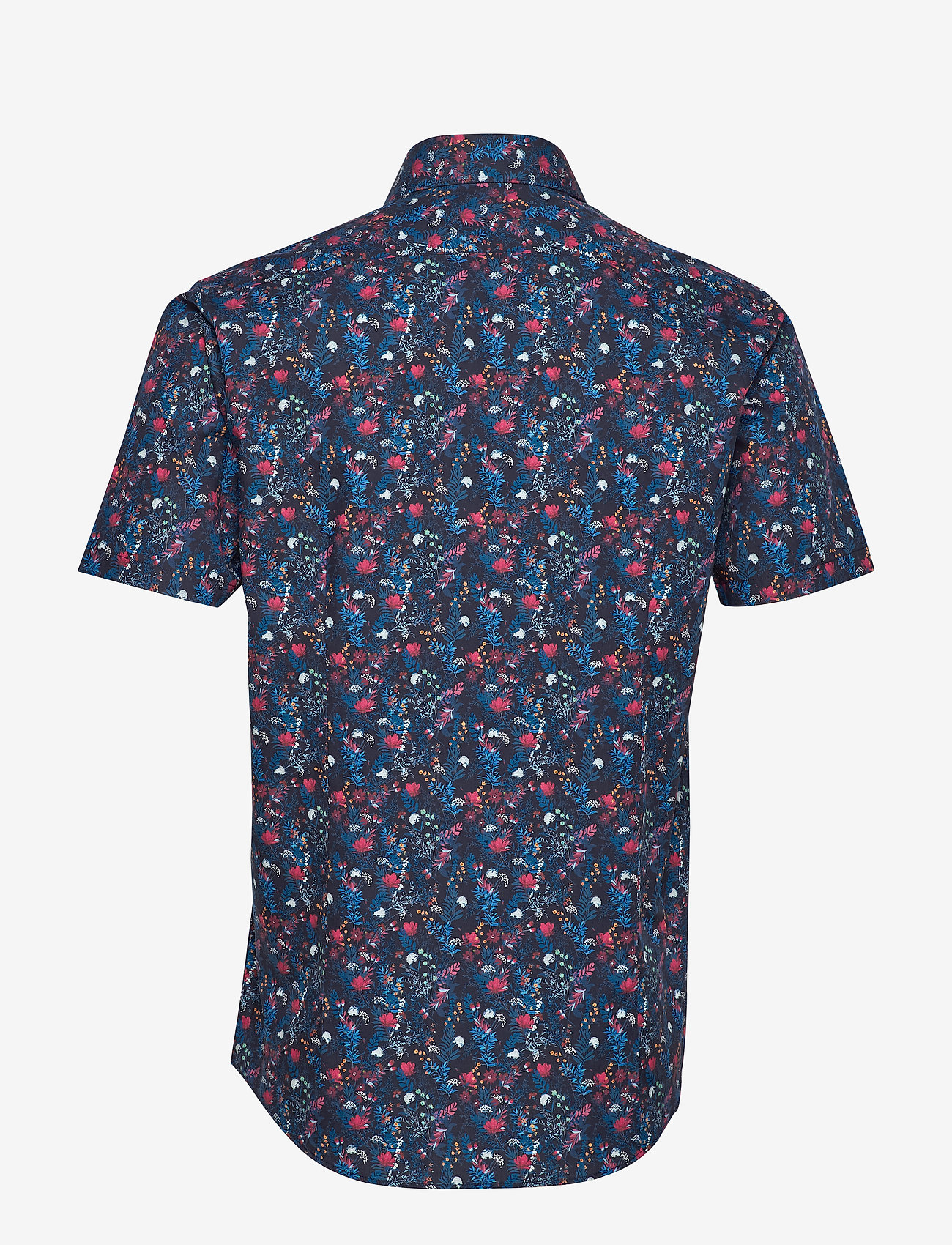 Aop Cotton Shirt S/s (Blue) (39.98 €) - Lindbergh RdWww