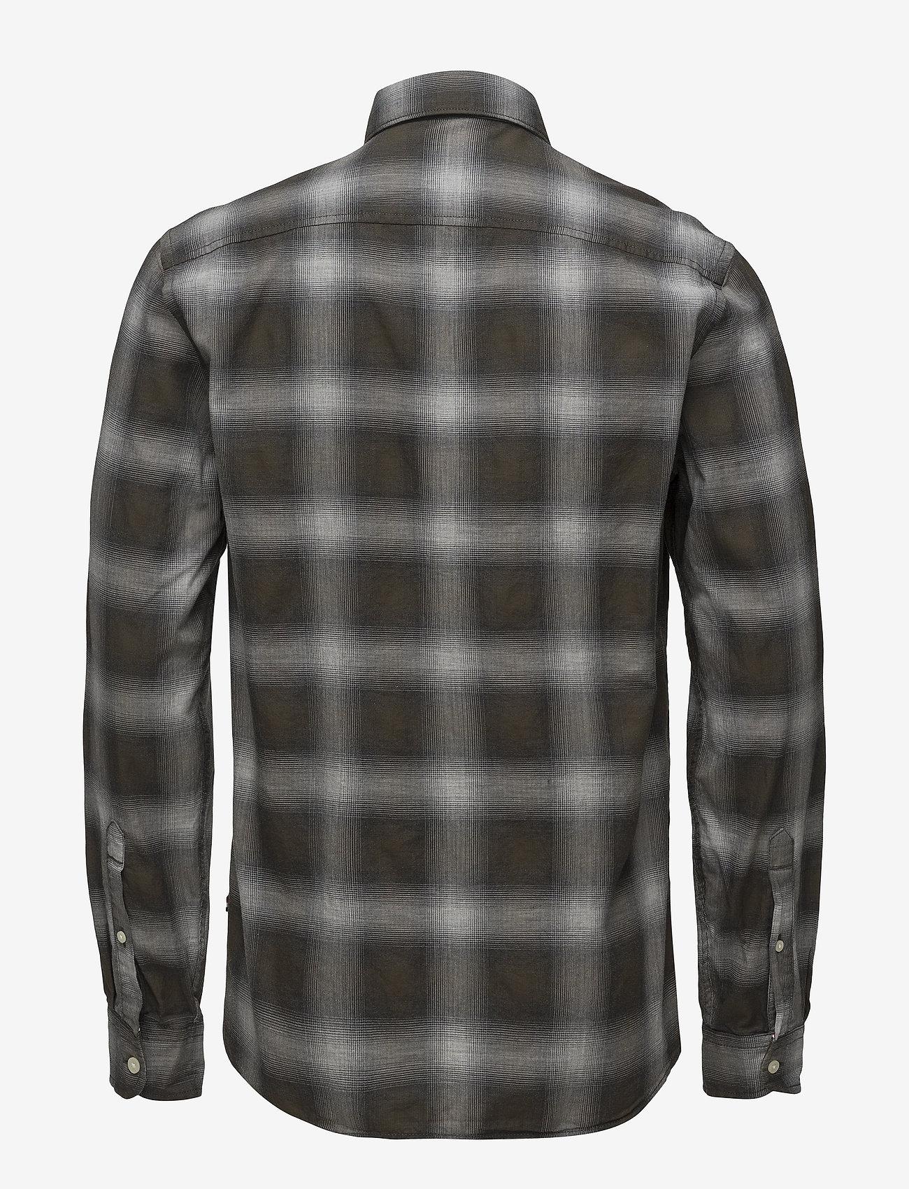 Lindbergh - Herringbone check shirt - checkered shirts - black