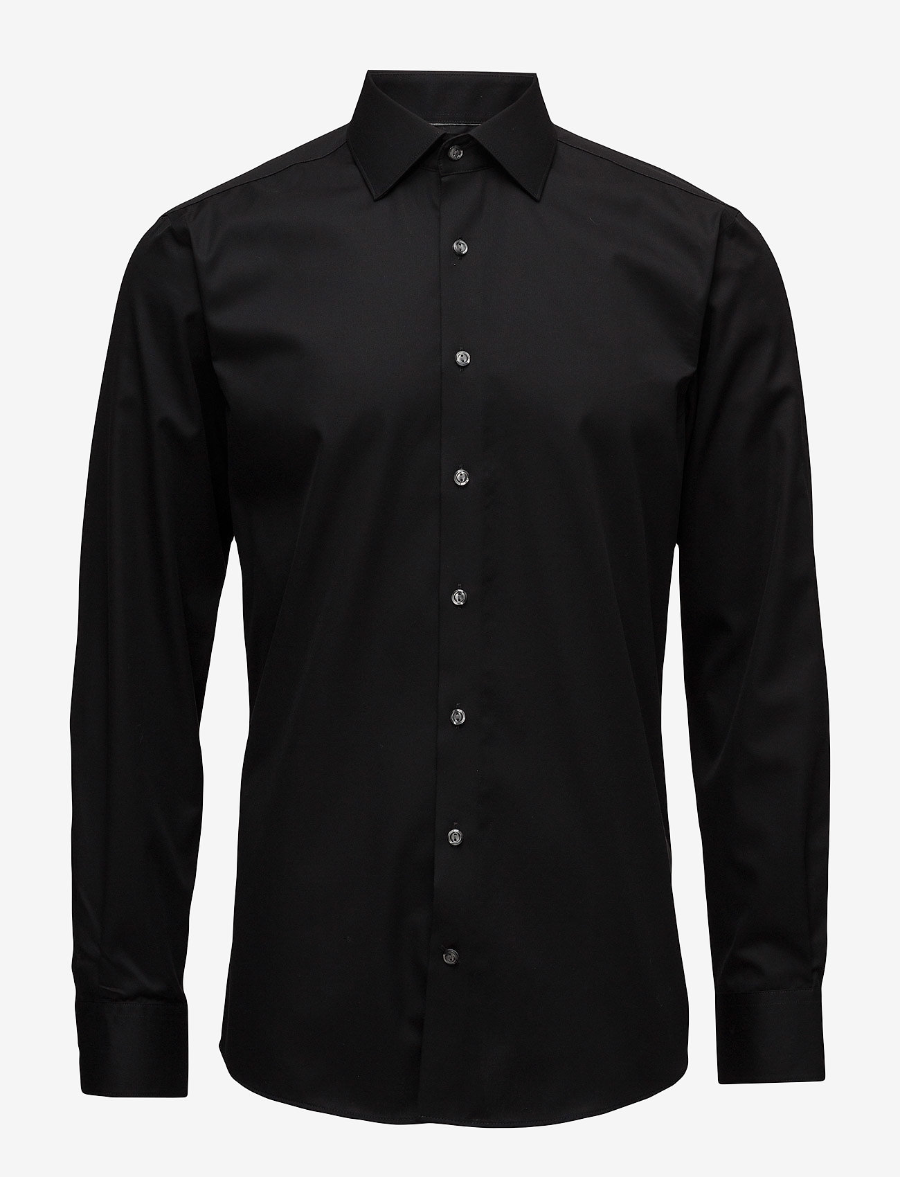 Lindbergh - Plain fine twill shirt,WF - basic shirts - black