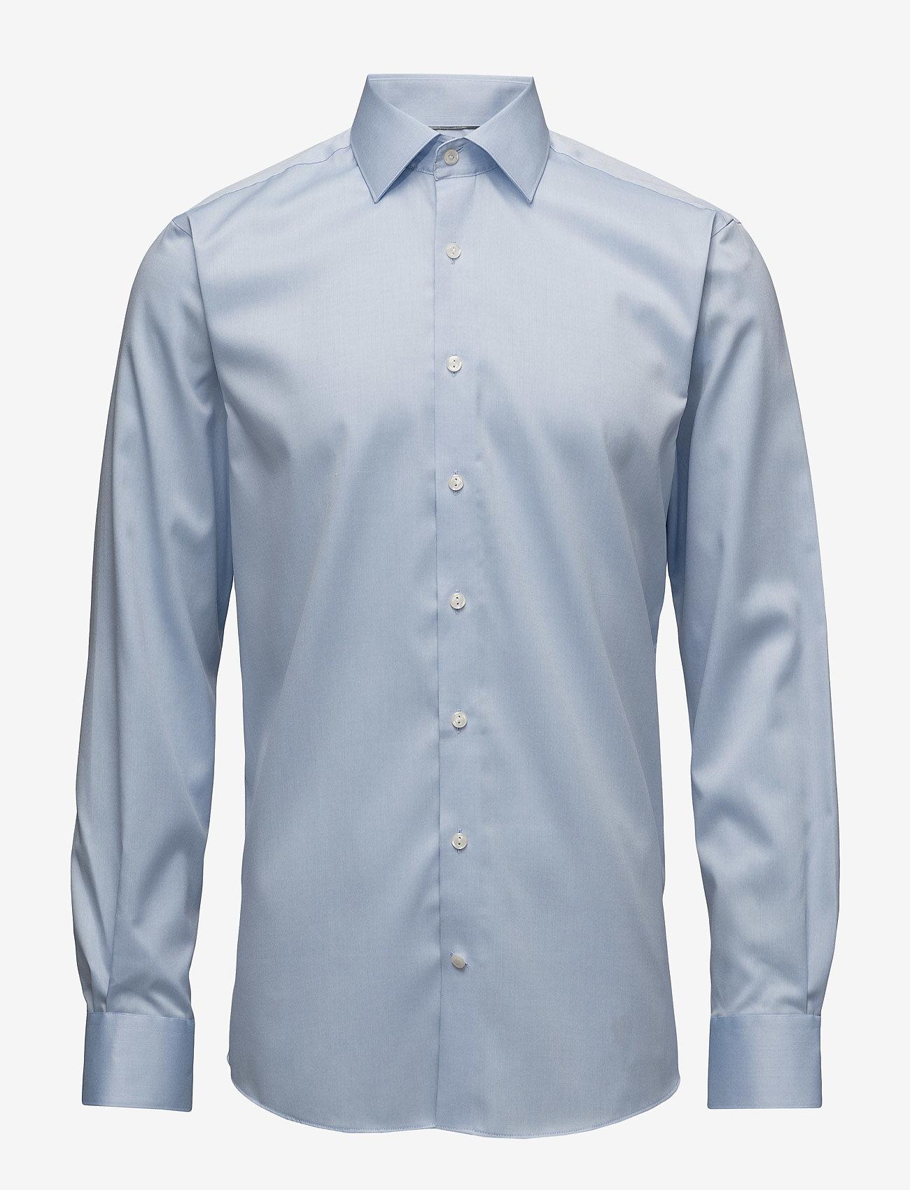 Lindbergh - Plain fine twill shirt, WF - podstawowe koszulki - lt blue - 1