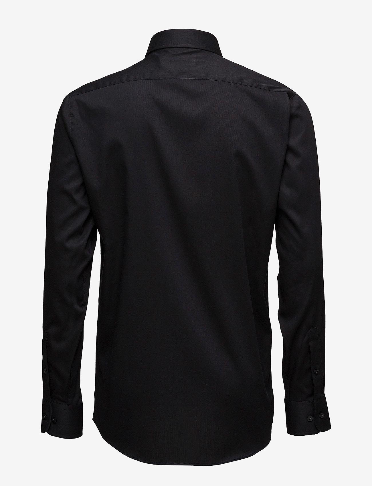 Lindbergh - Basic Shirt L/S - peruspaitoja - black