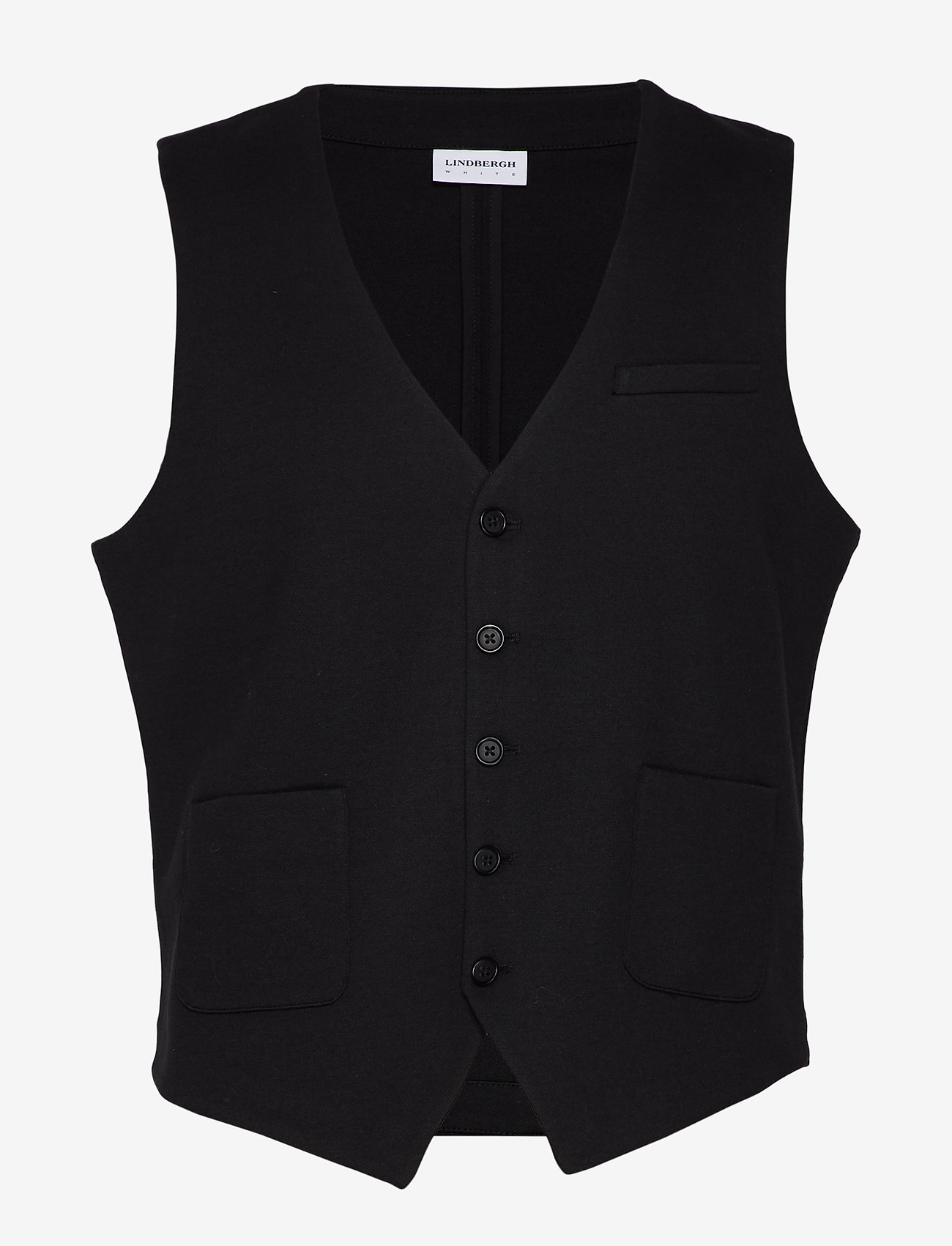 Lindbergh - Knitted waistcoat - waistcoats - black - 1