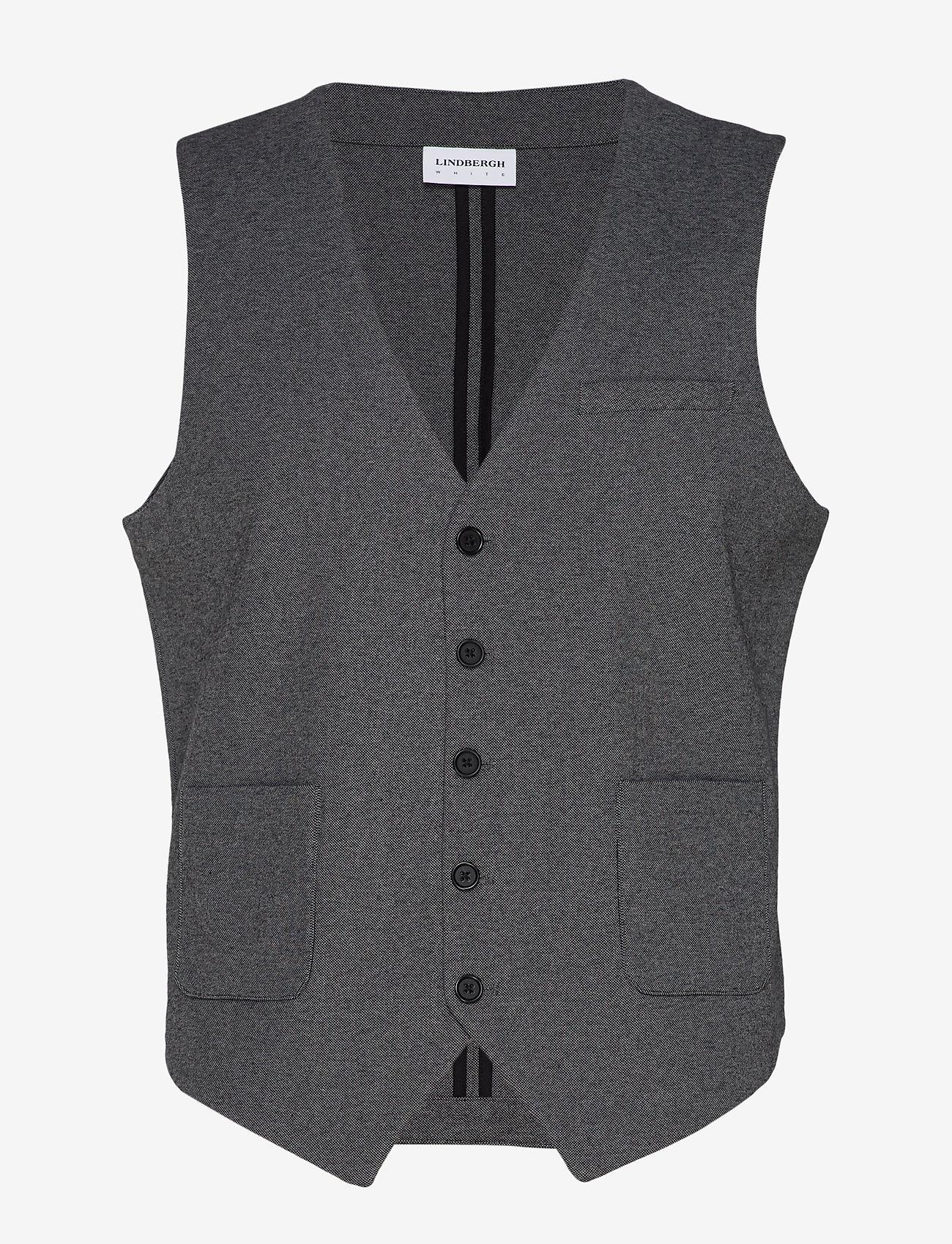 Lindbergh - Knitted waistcoat - waistcoats - grey mix - 1