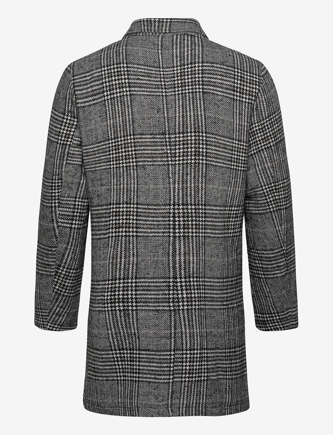 Lindbergh Checked coat - Jakker og frakker BLACK - Menn Klær