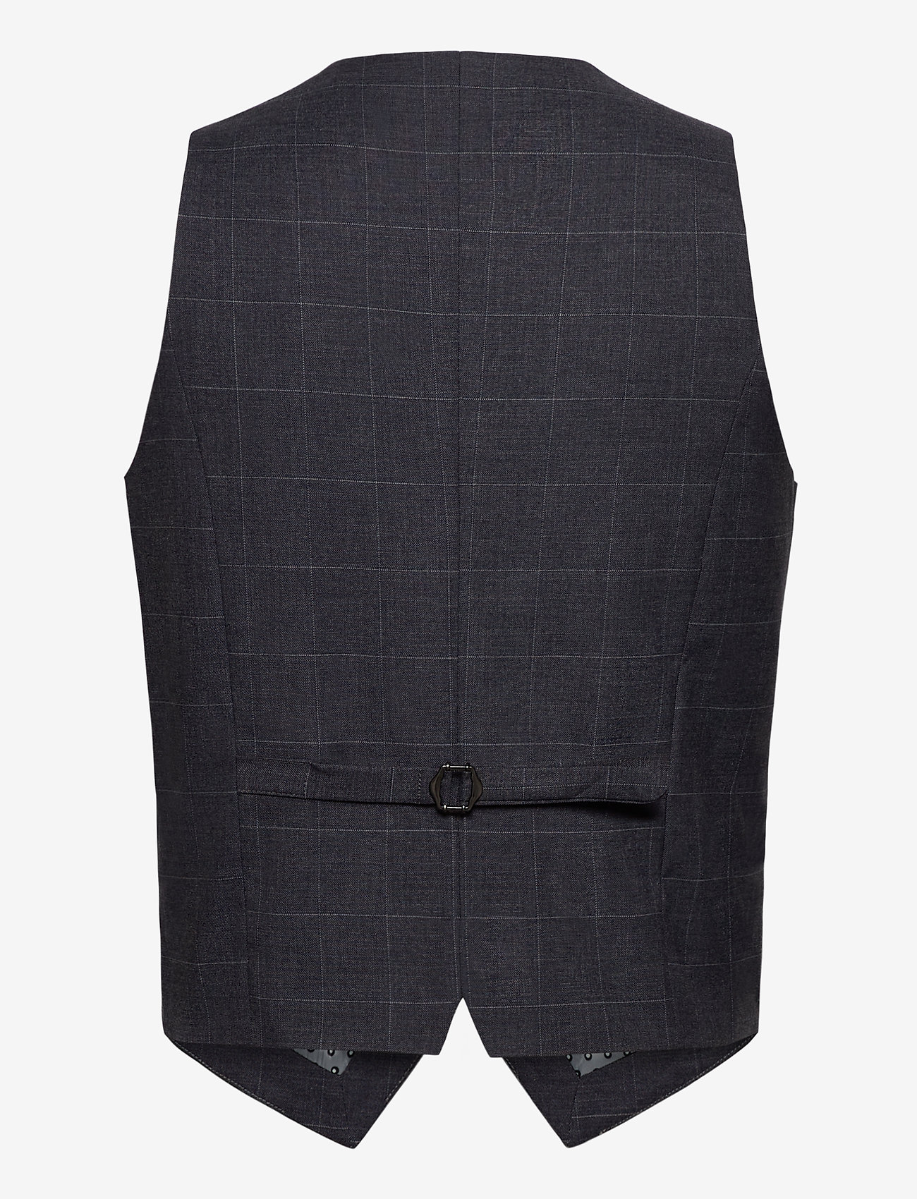 Lindbergh - Checked waist coat - waistcoats - grey check - 1