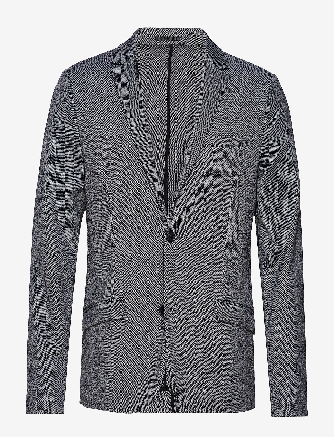 Lindbergh - Superflex knitted blazer - blazers à boutonnage simple - grey mix - 1