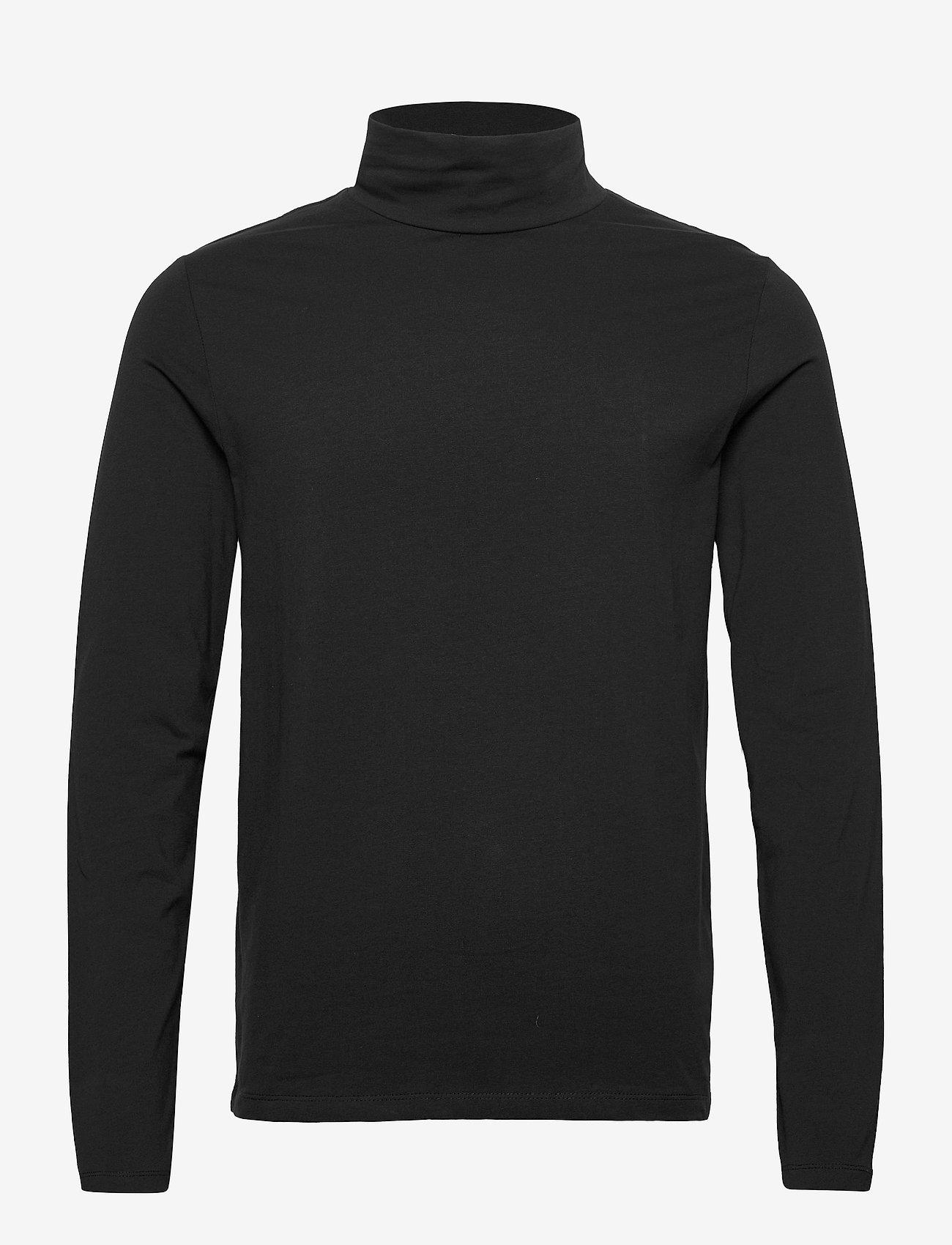 Lindbergh Turtle neck tee L/S - T-skjorter BLACK - Menn Klær