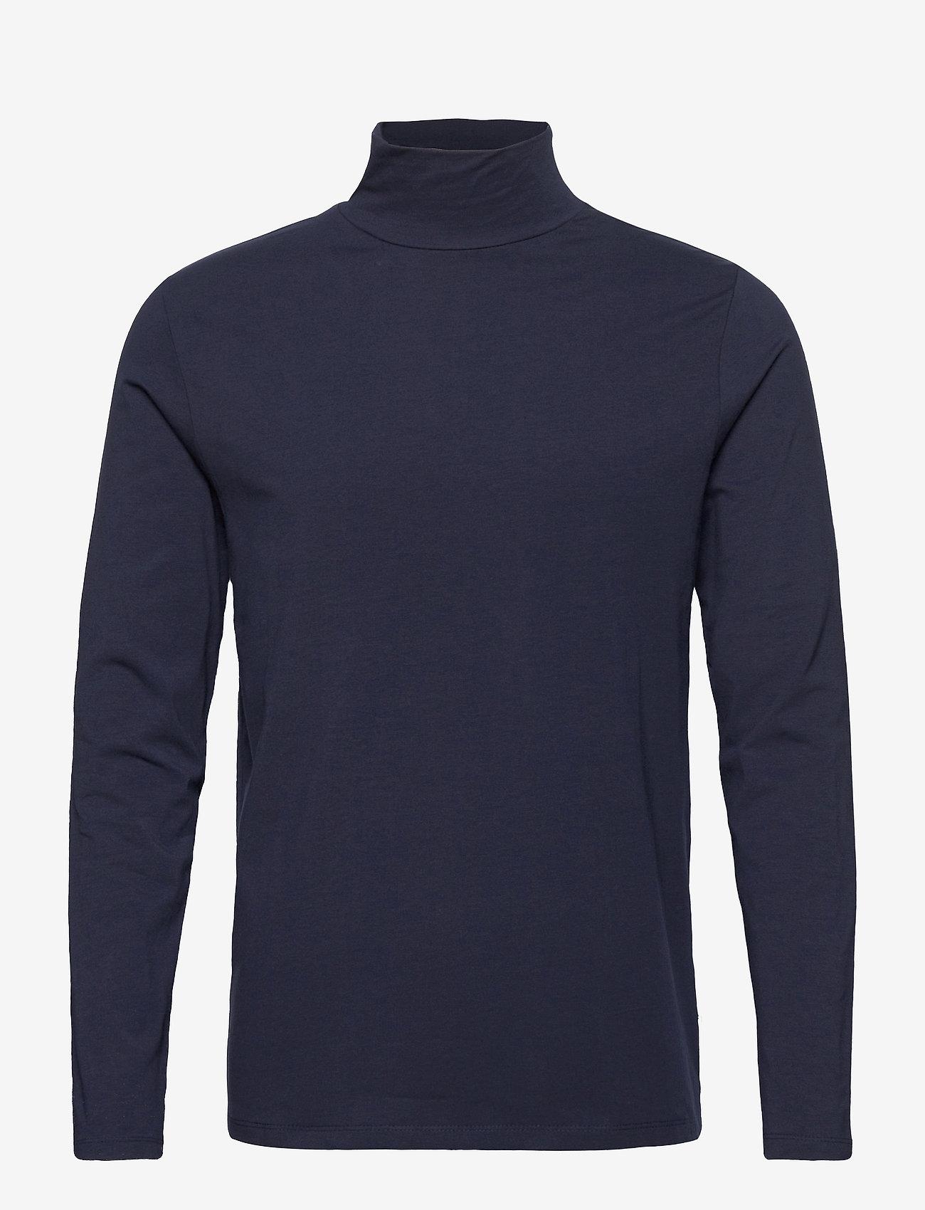 Lindbergh Turtle neck tee L/S - T-skjorter DK BLUE - Menn Klær