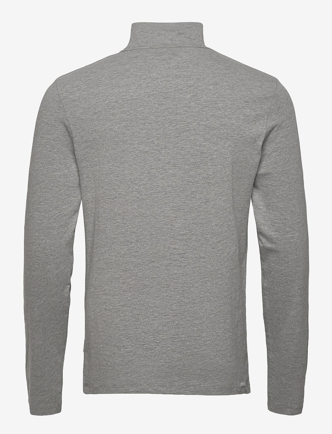 Lindbergh Turtle neck tee L/S - T-skjorter LT GREY MEL - Menn Klær