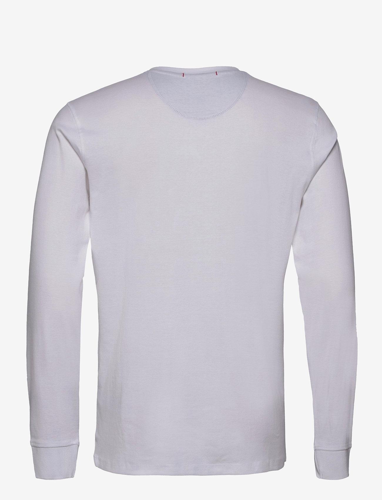 Lindbergh Ribbed granddad L/S - T-skjorter WHITE - Menn Klær