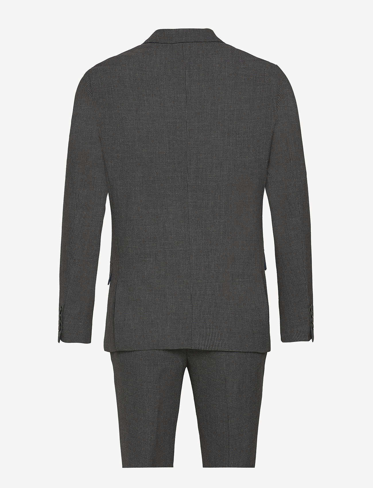 Lindbergh - Seersucker checked suit - single breasted suits - grey check