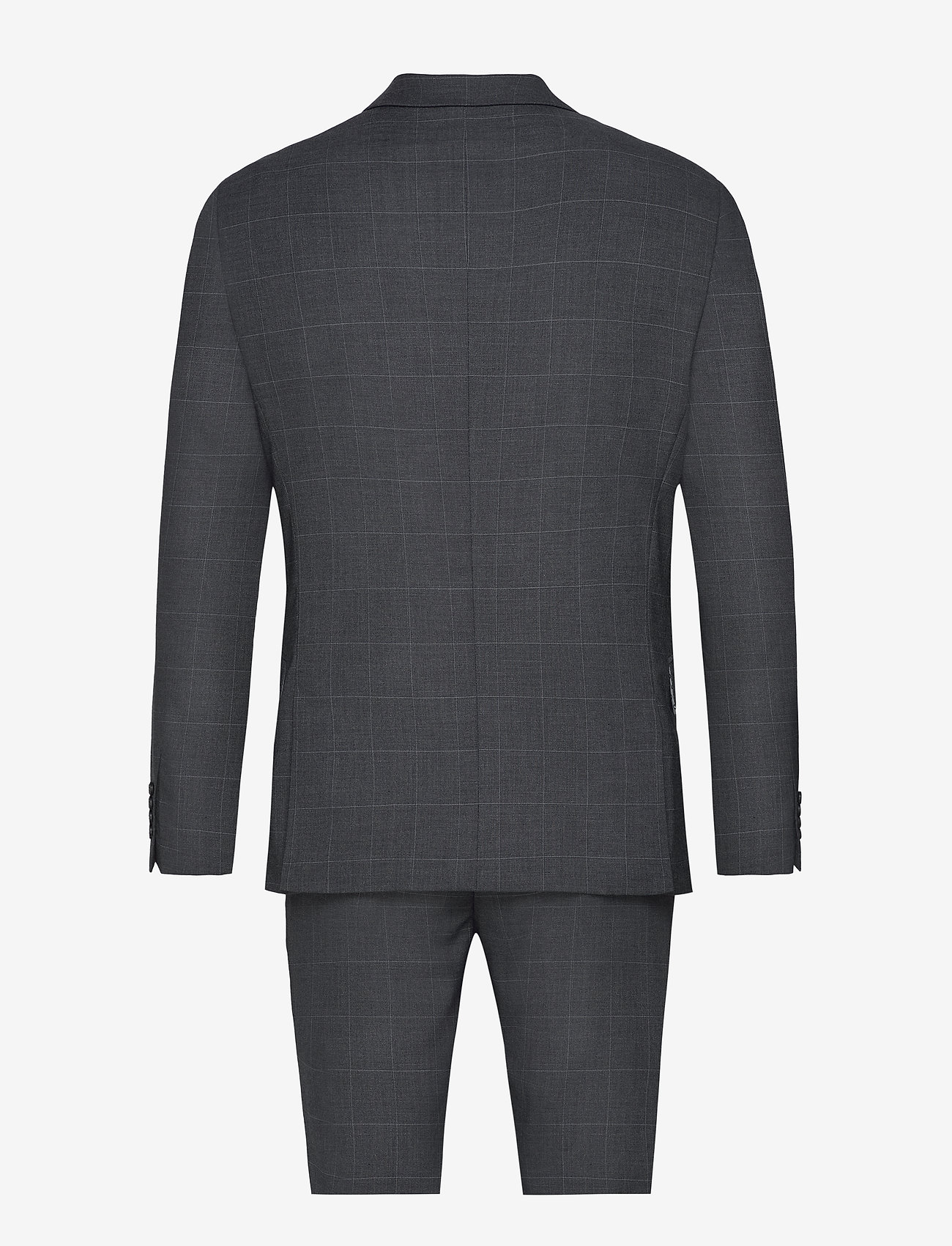 Lindbergh - Checked suit - enkeltkneppede dresser - grey check - 1