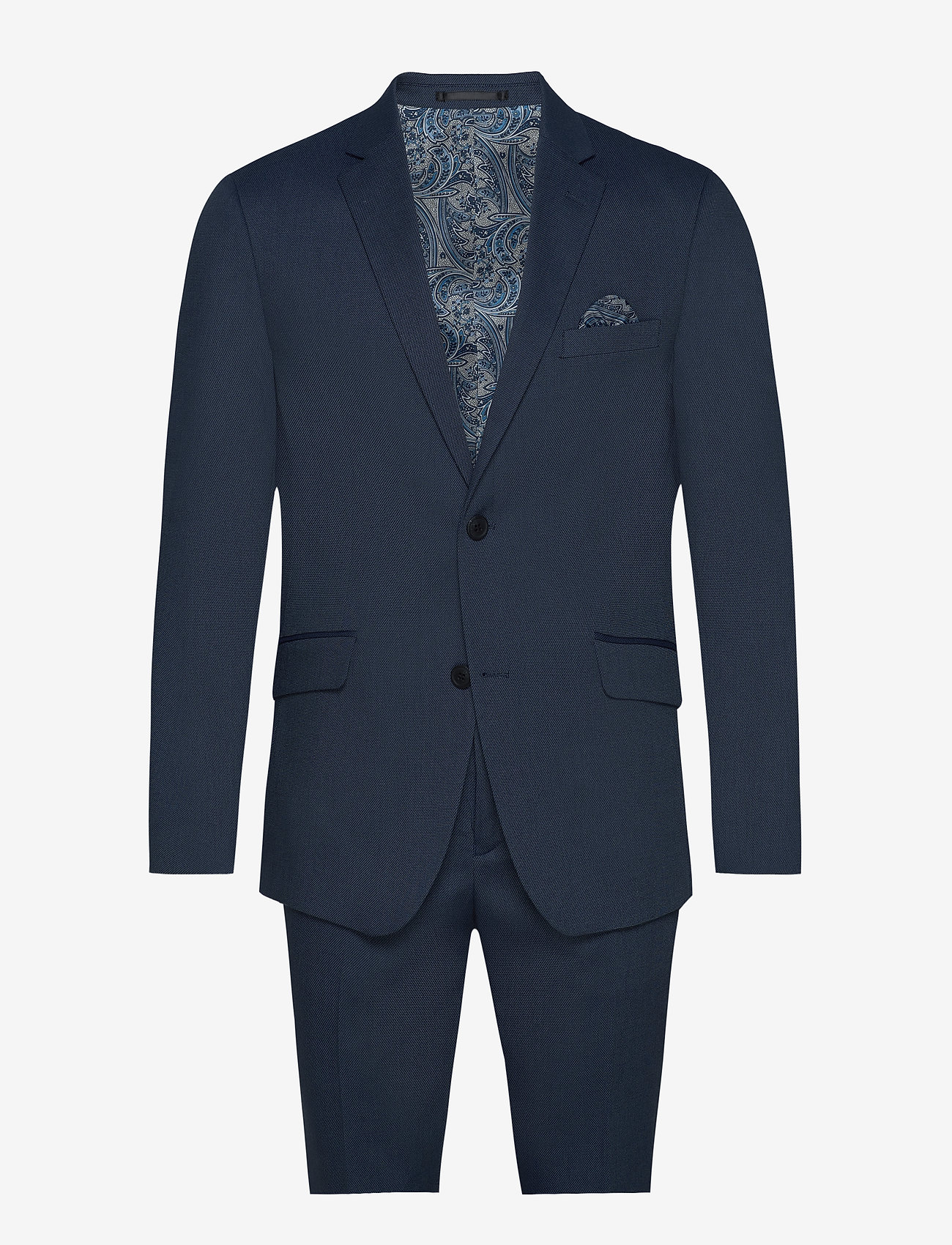 Lindbergh - Structure suit - single breasted suits - blue