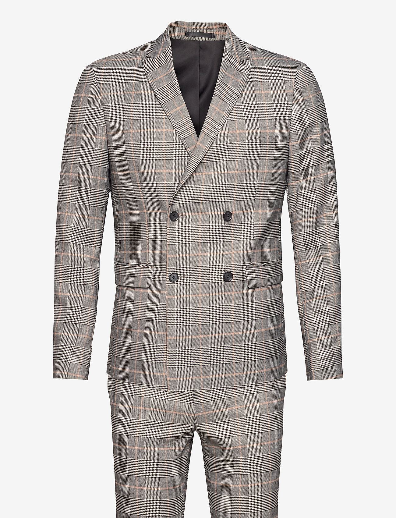 Lindbergh - Checked suit - puvut - brown check - 0