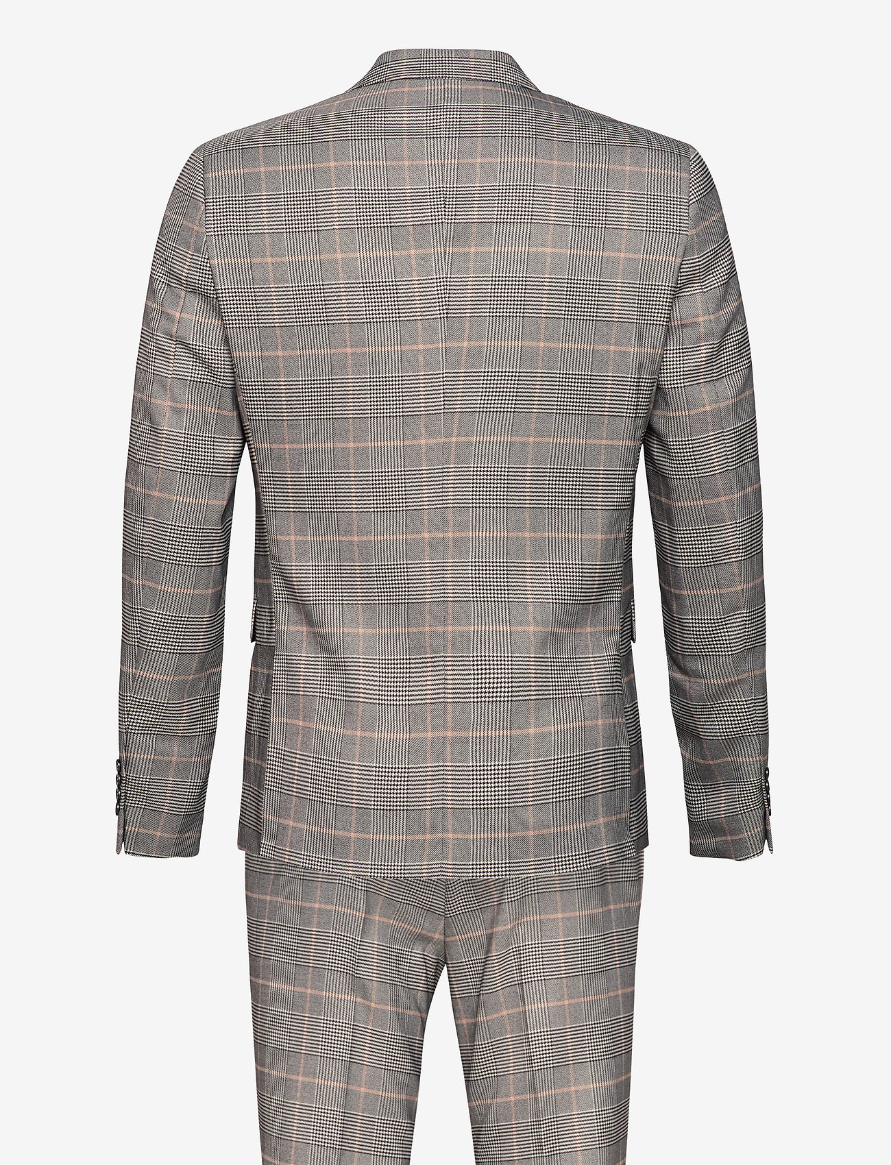 Lindbergh - Checked suit - puvut - brown check - 1