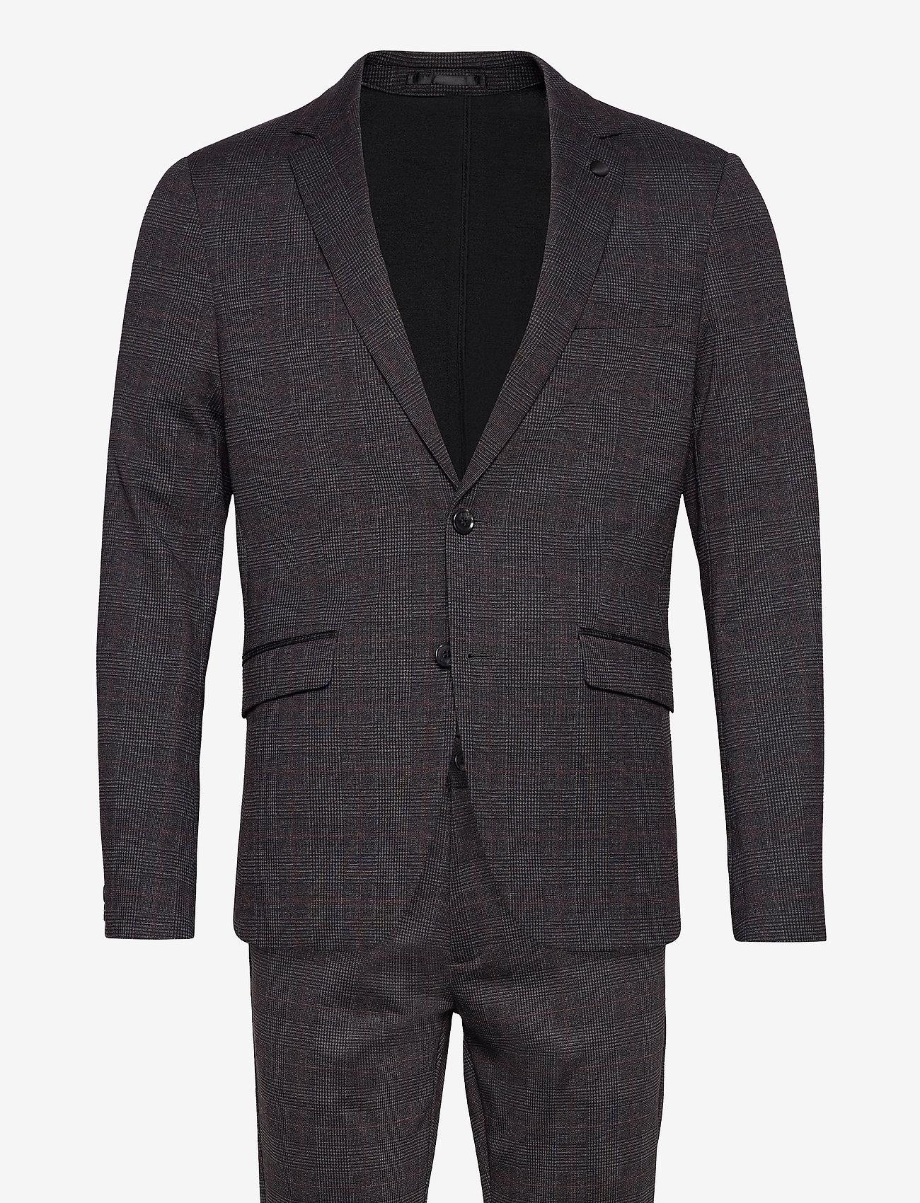 Lindbergh - AOP checked suit - puvut - grey check - 1