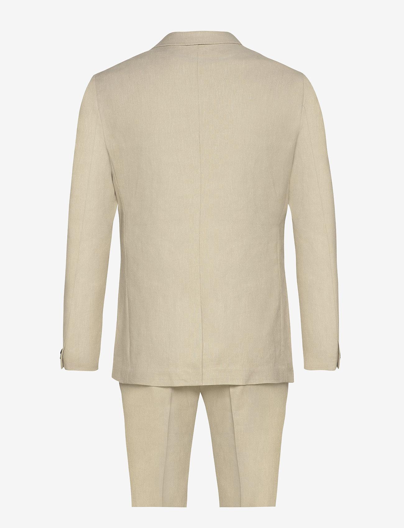 Lindbergh - Cotton linen suit - single breasted suits - sand mix