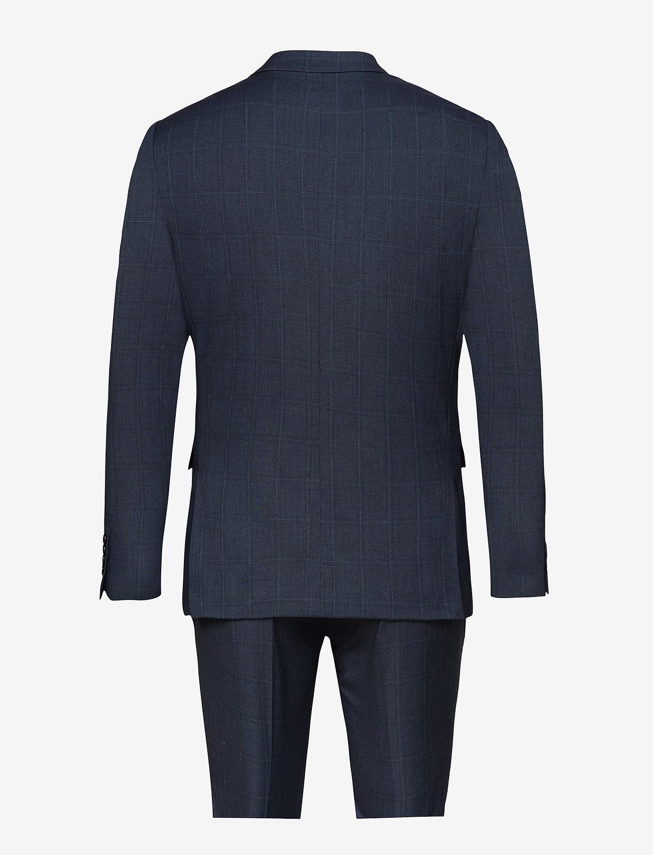 Lindbergh Checked mens suit - Dresser & blazere BLUE CHECK - Menn Klær