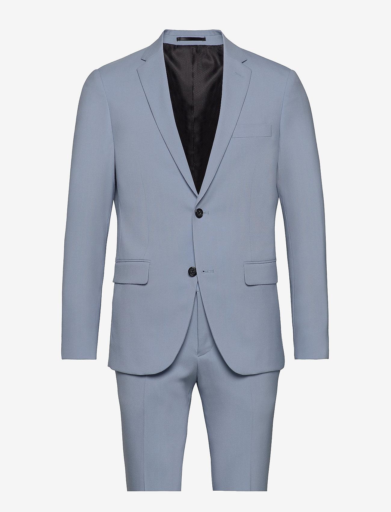 Lindbergh - Plain mens suit - yksiriviset puvut - lt blue - 0