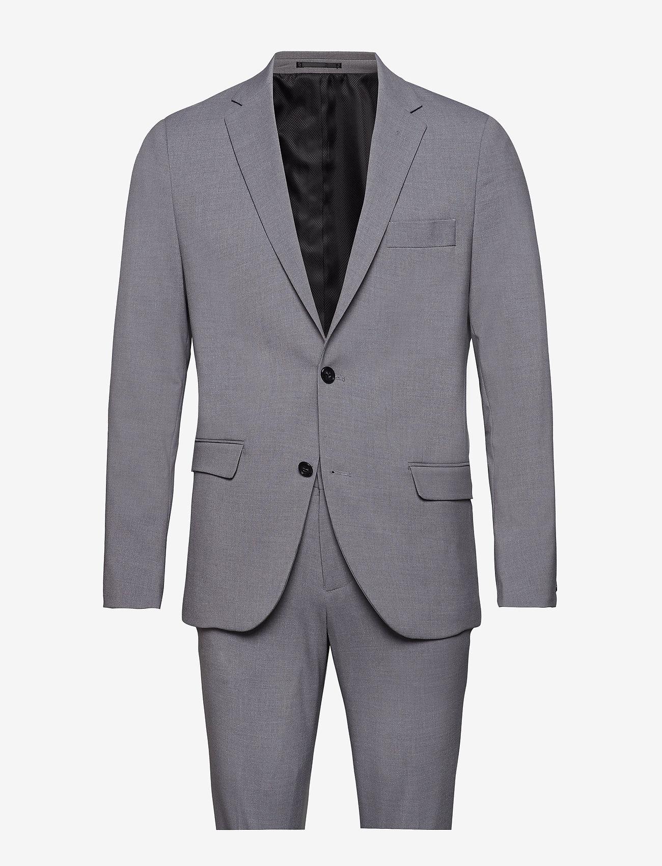 Lindbergh - Plain mens suit - yksiriviset puvut - lt grey - 0