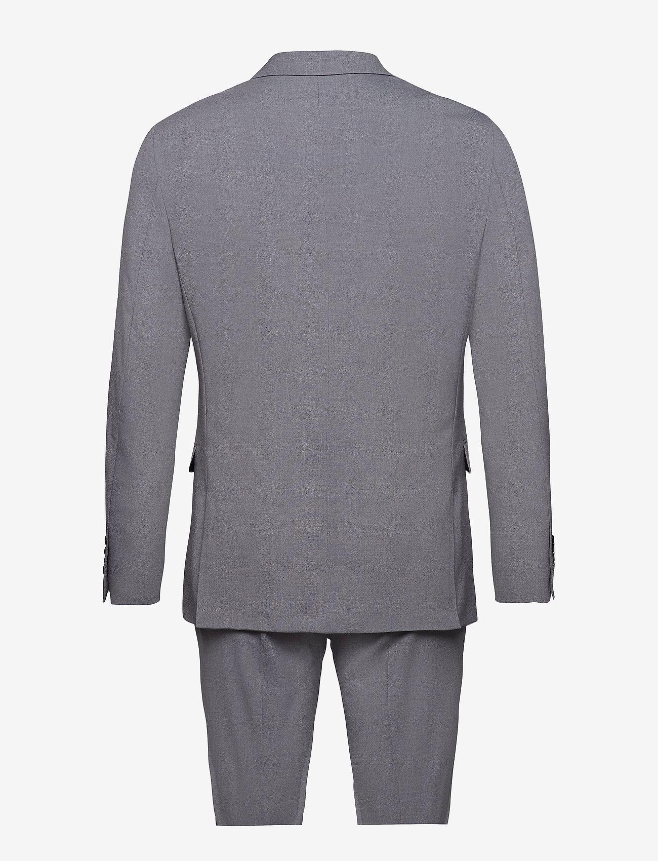 Lindbergh - Plain mens suit - yksiriviset puvut - lt grey - 1