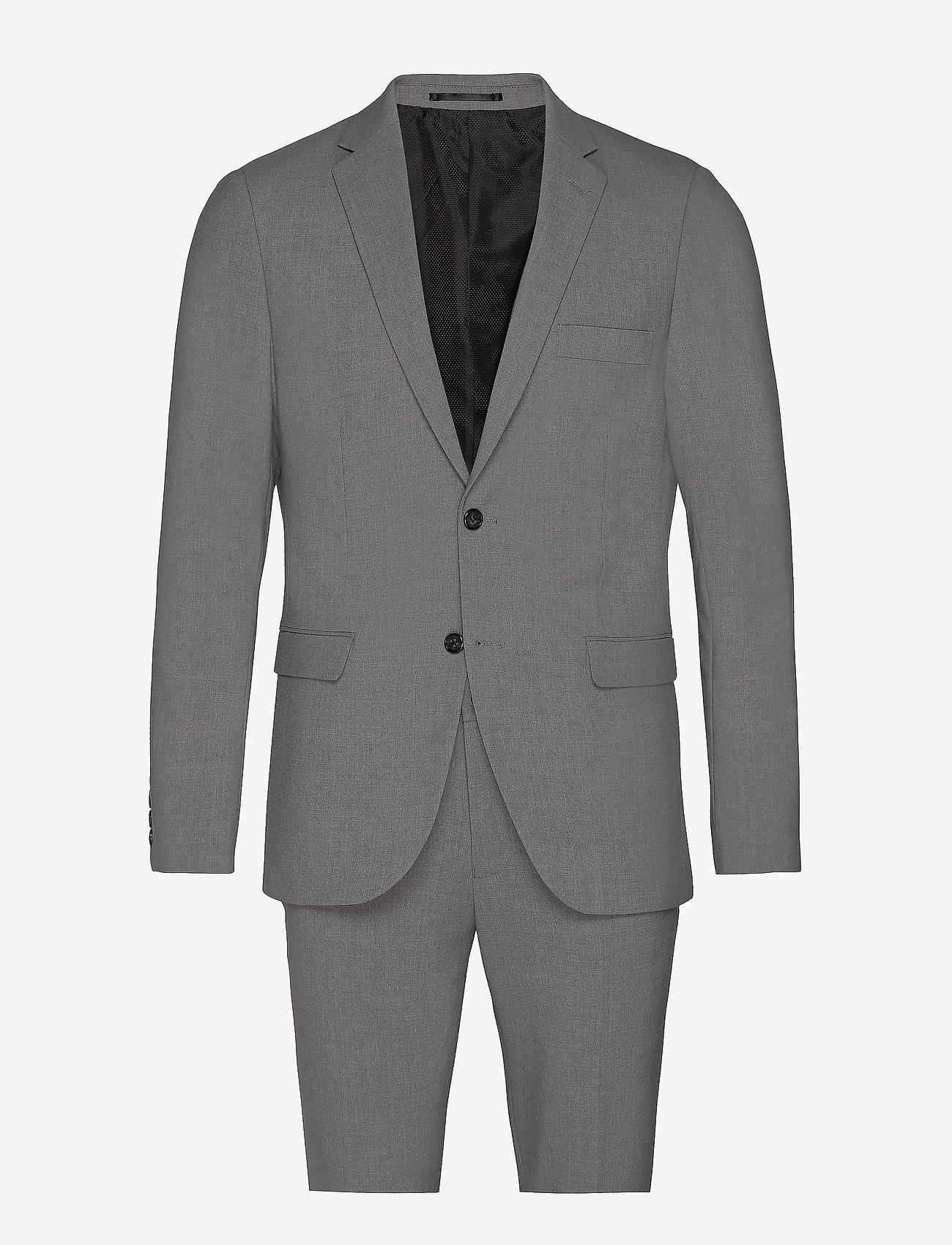 Lindbergh - Plain mens suit - yksiriviset puvut - lt grey mel - 1