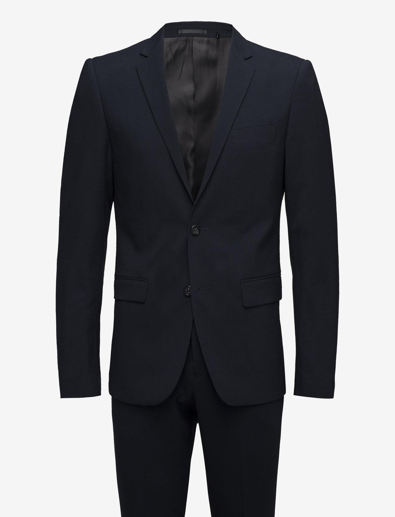 Lindbergh - Plain mens suit - enkeltkneppede dresser - navy - 1