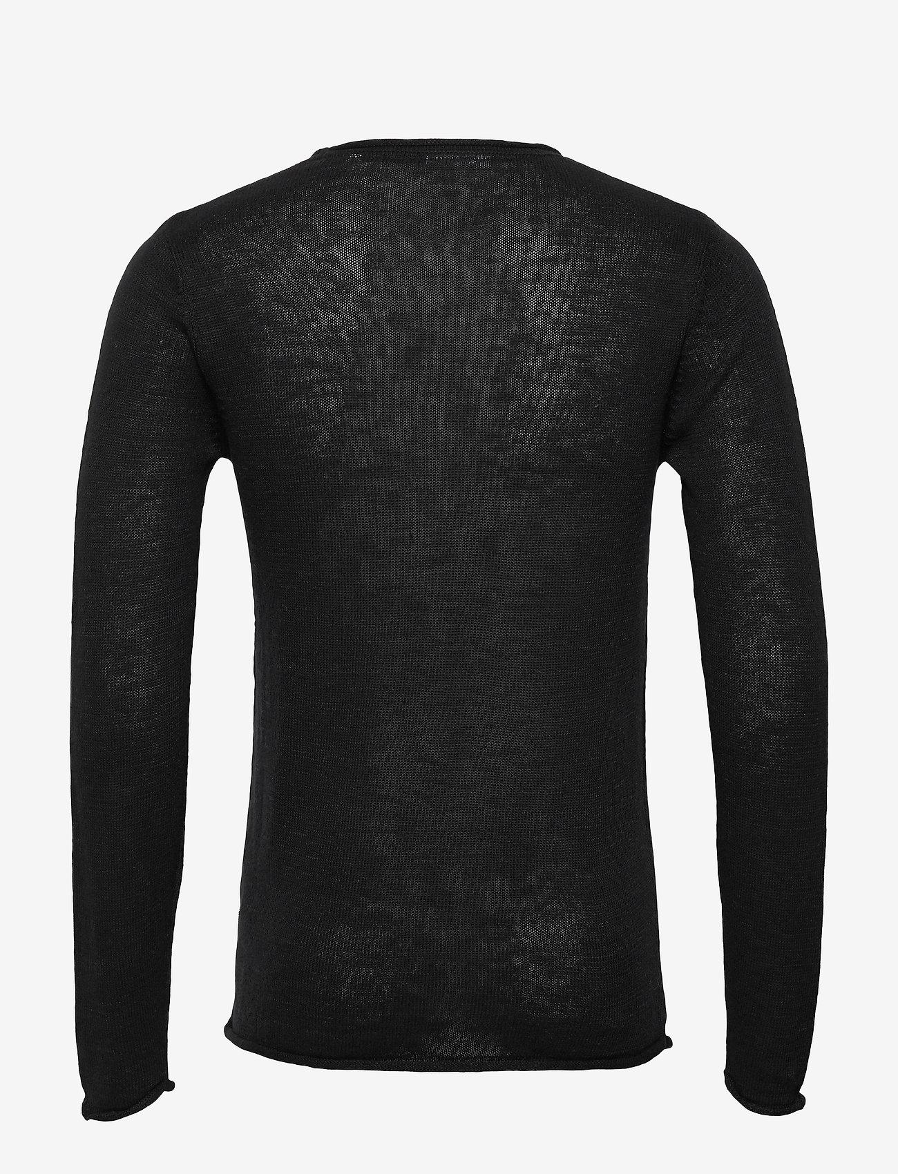 Lindbergh Casual knit - Strikkevarer BLACK MEL - Menn Klær