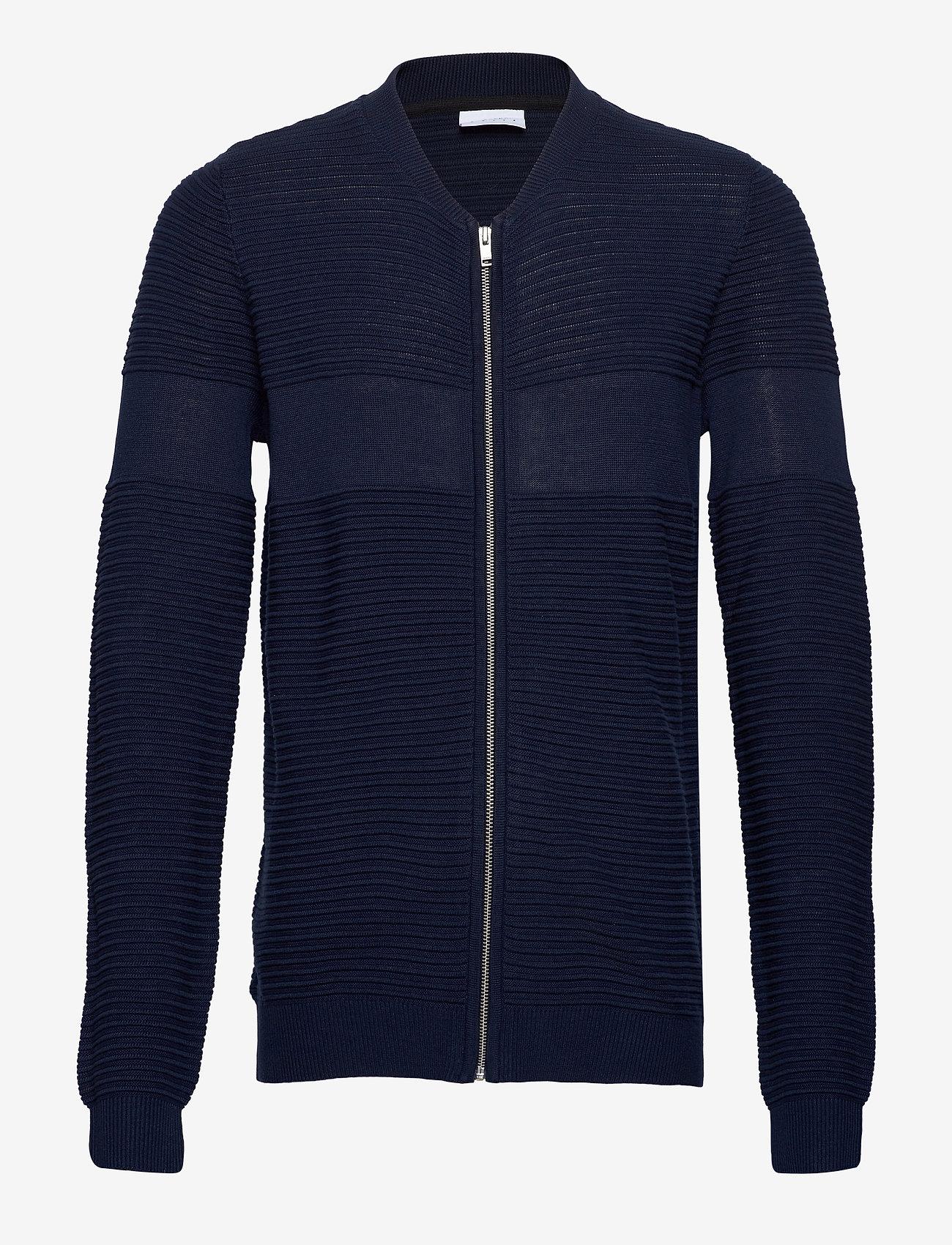 Lindbergh - Structured cardigan - perusneuleet - dk blue - 1