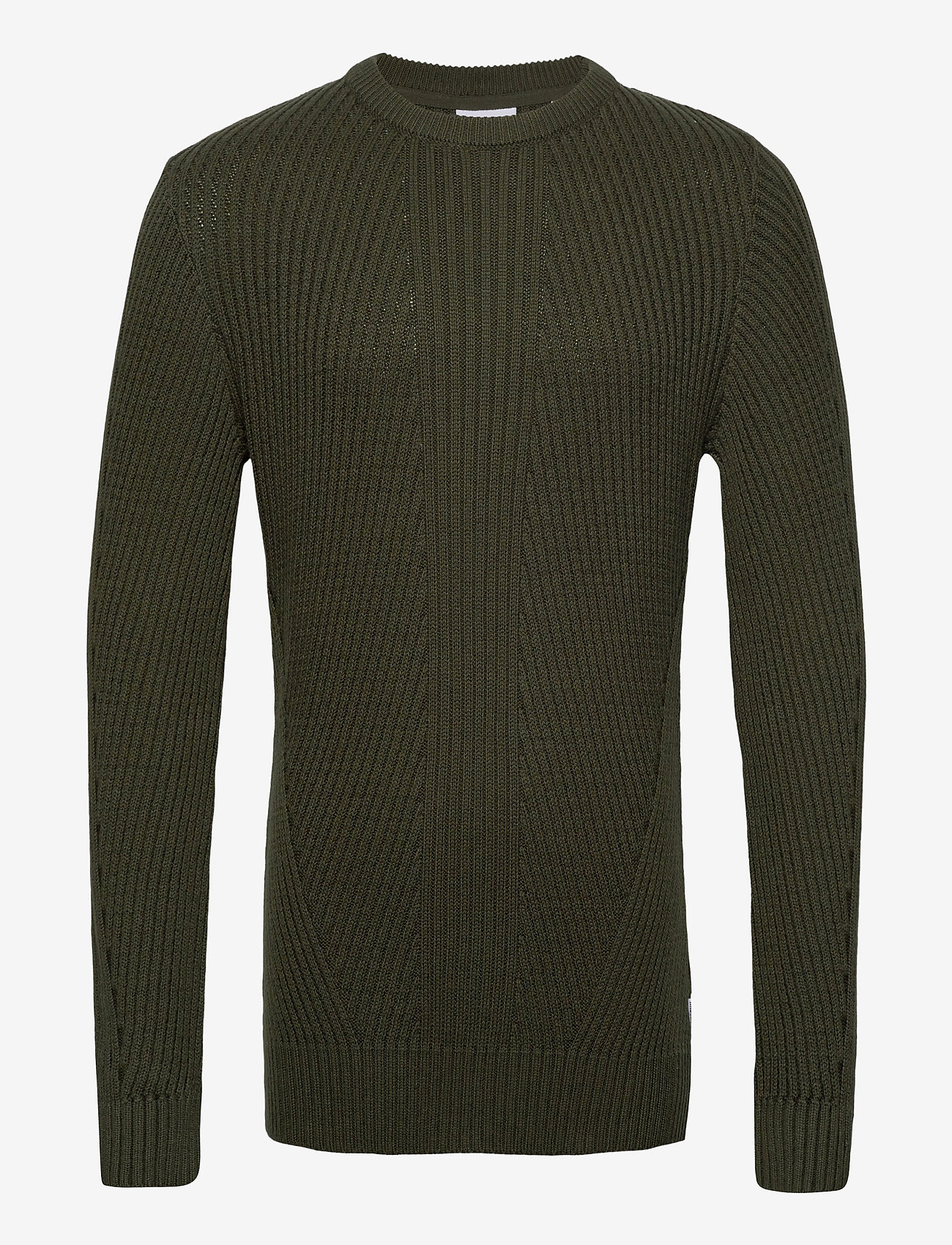 Lindbergh Rib knit - Strikkevarer ARMY - Menn Klær