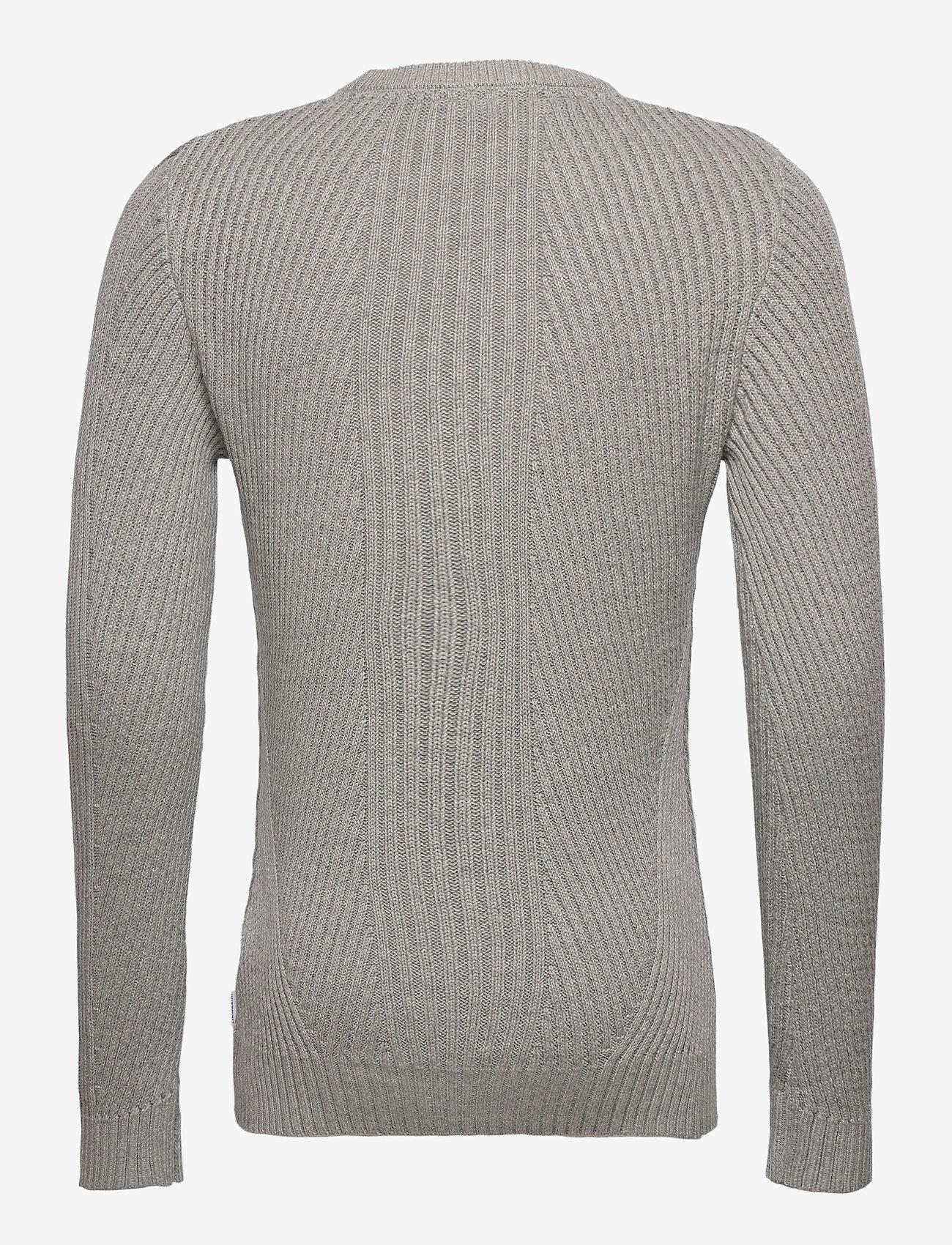 Lindbergh Rib knit - Strikkevarer GREY MEL - Menn Klær
