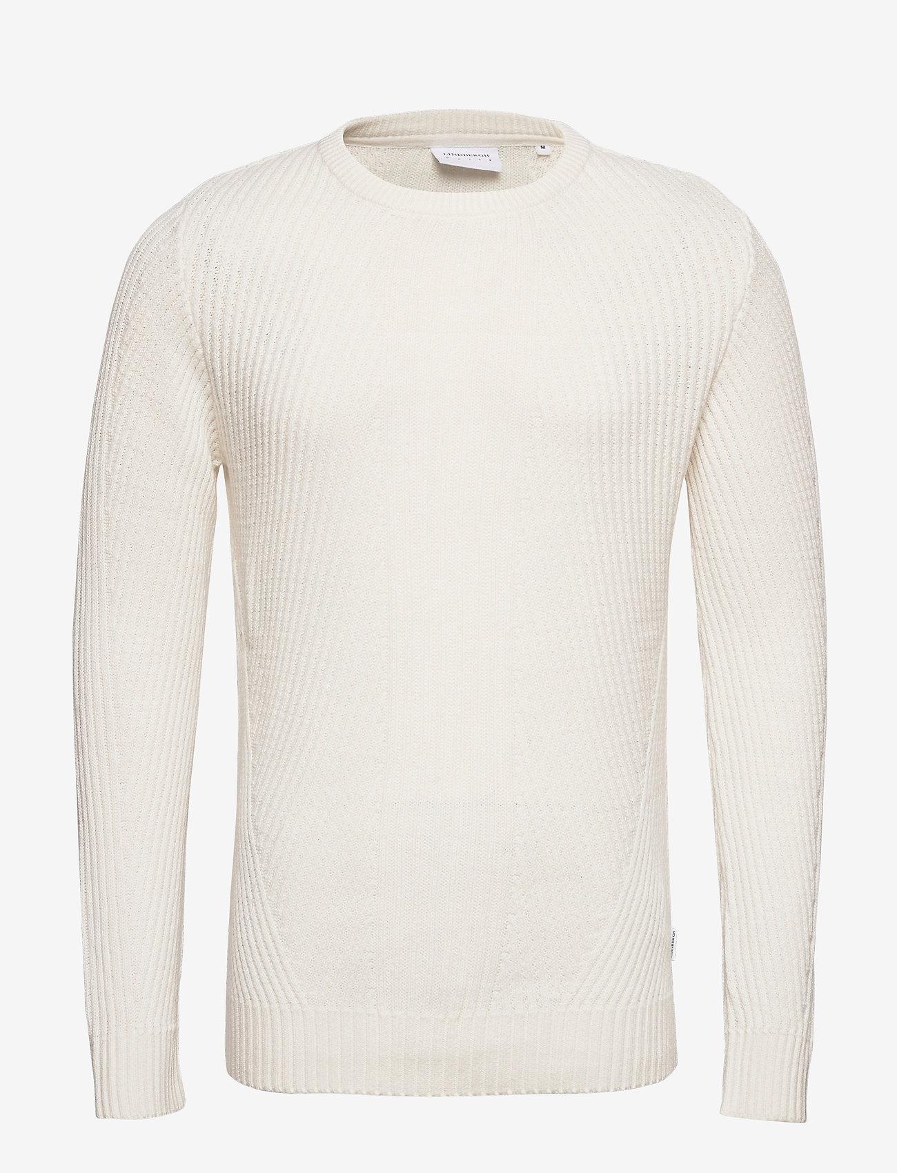 Lindbergh Rib knit - Strikkevarer OFF WHITE - Menn Klær