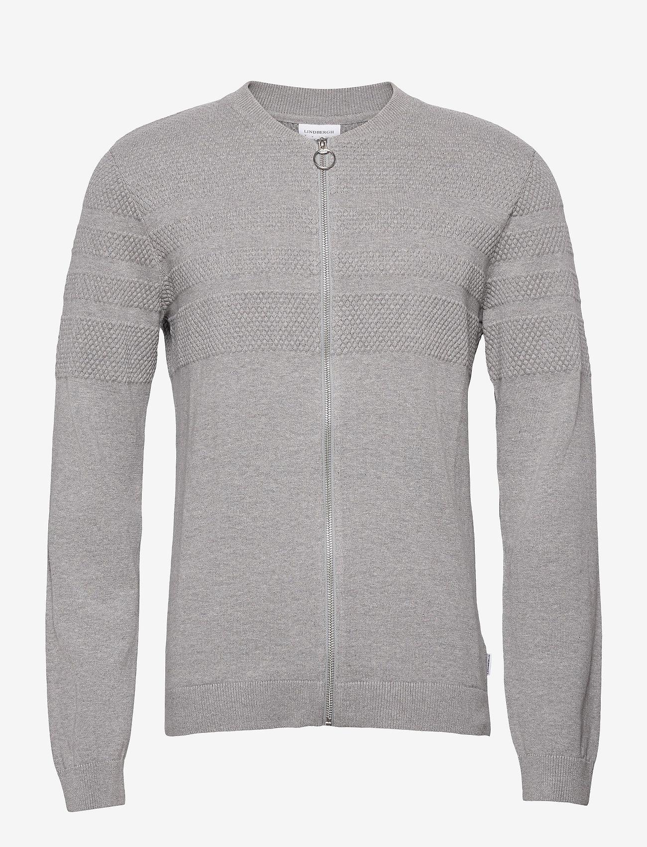 Lindbergh - Pearl knit cardigan - podstawowa odzież z dzianiny - grey mel - 1
