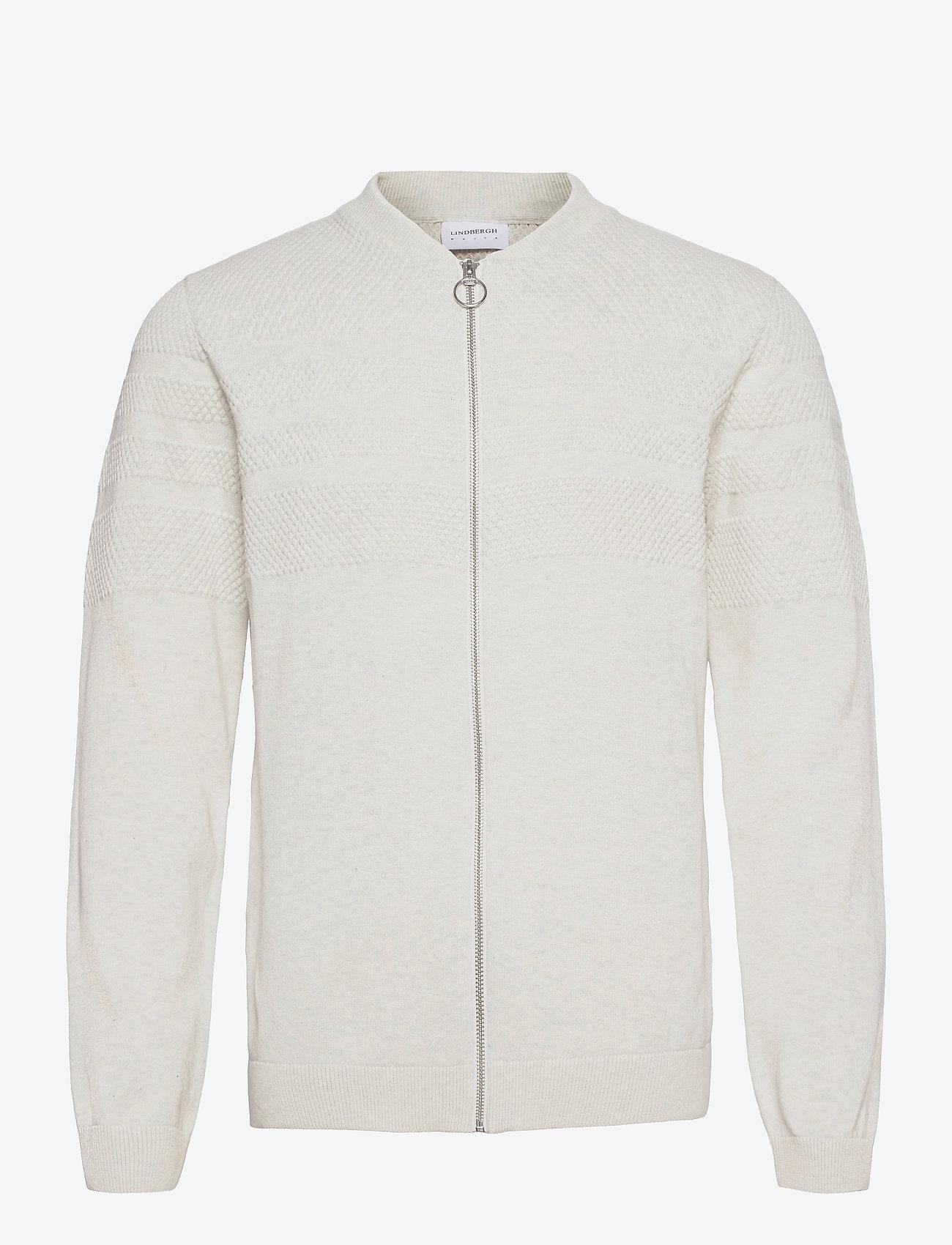 Lindbergh - Pearl knit cardigan - podstawowa odzież z dzianiny - off white mel - 0