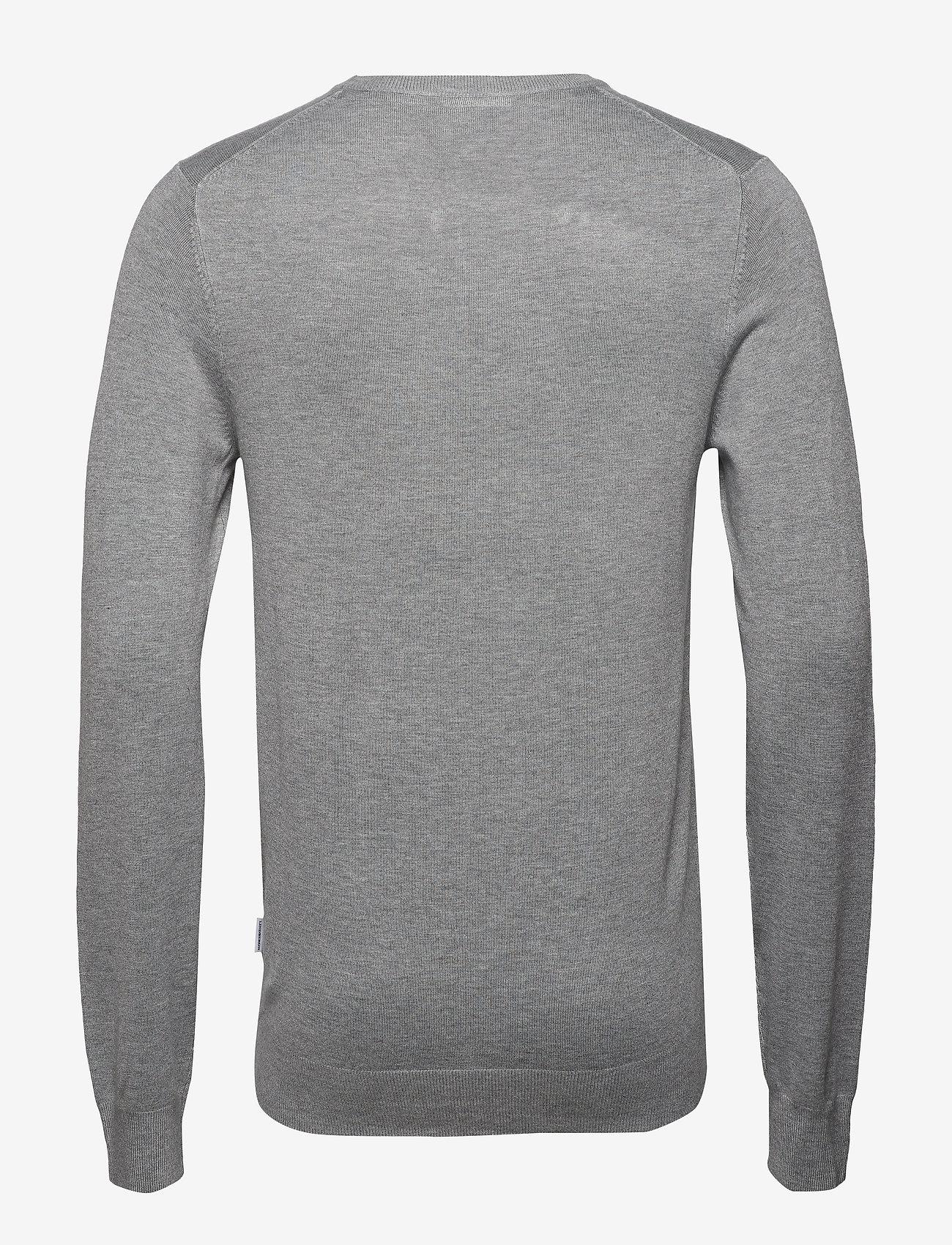 Lindbergh Mélange round neck knit - Strikkevarer GREY MEL - Menn Klær
