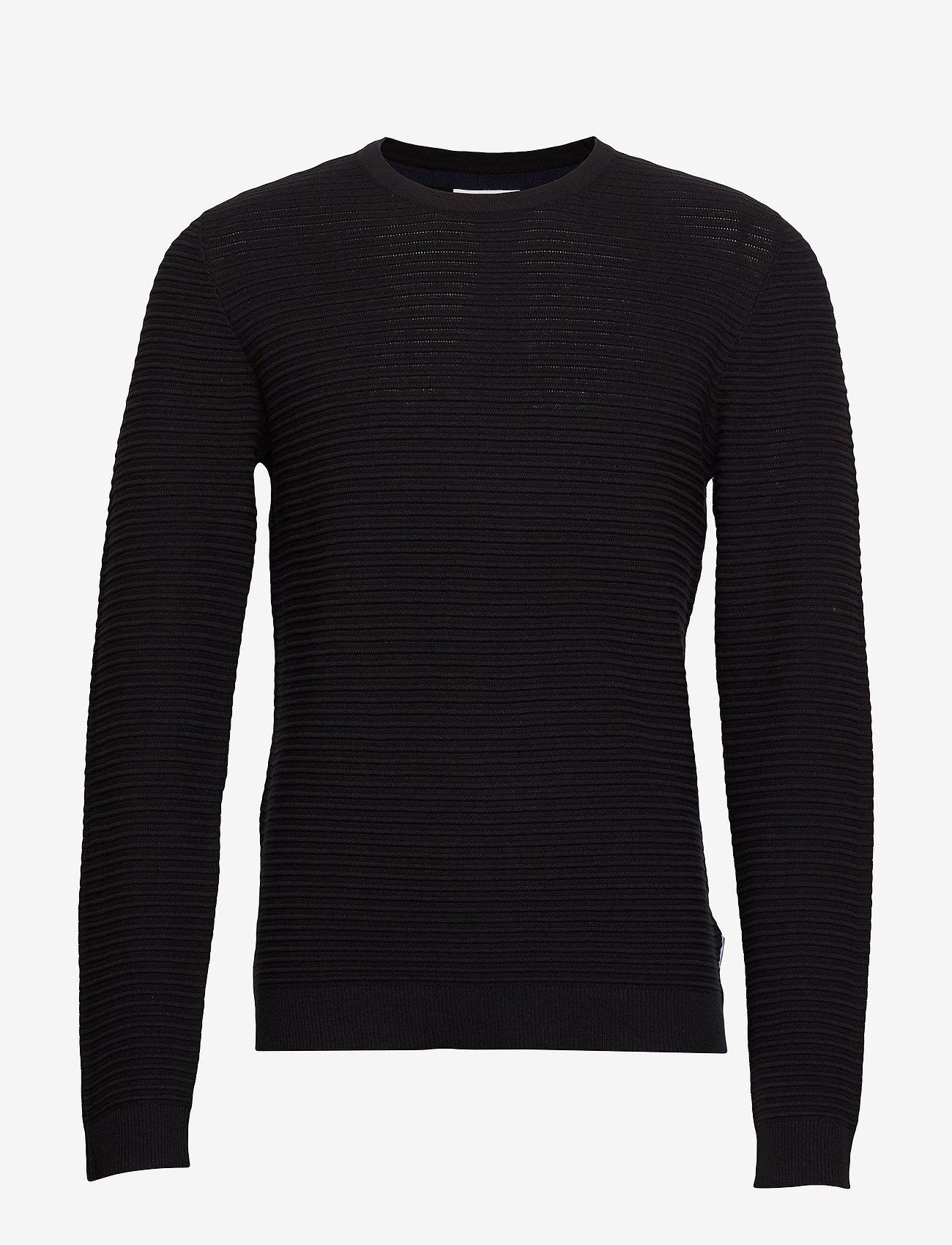 Lindbergh - Structure knit - perusneuleet - black - 1