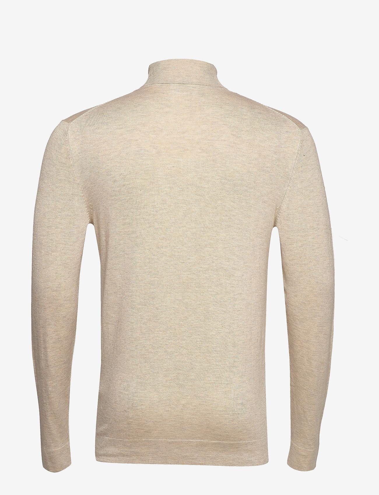 Lindbergh Roll neck knit - Strikkevarer BEIGE MEL - Menn Klær