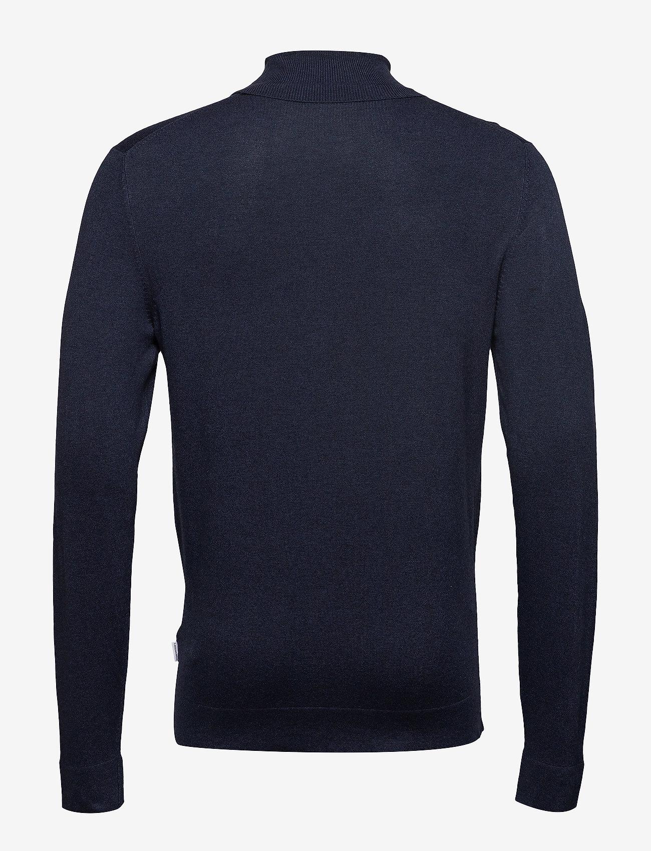 Lindbergh Roll neck knit - Strikkevarer NAVY MEL - Menn Klær